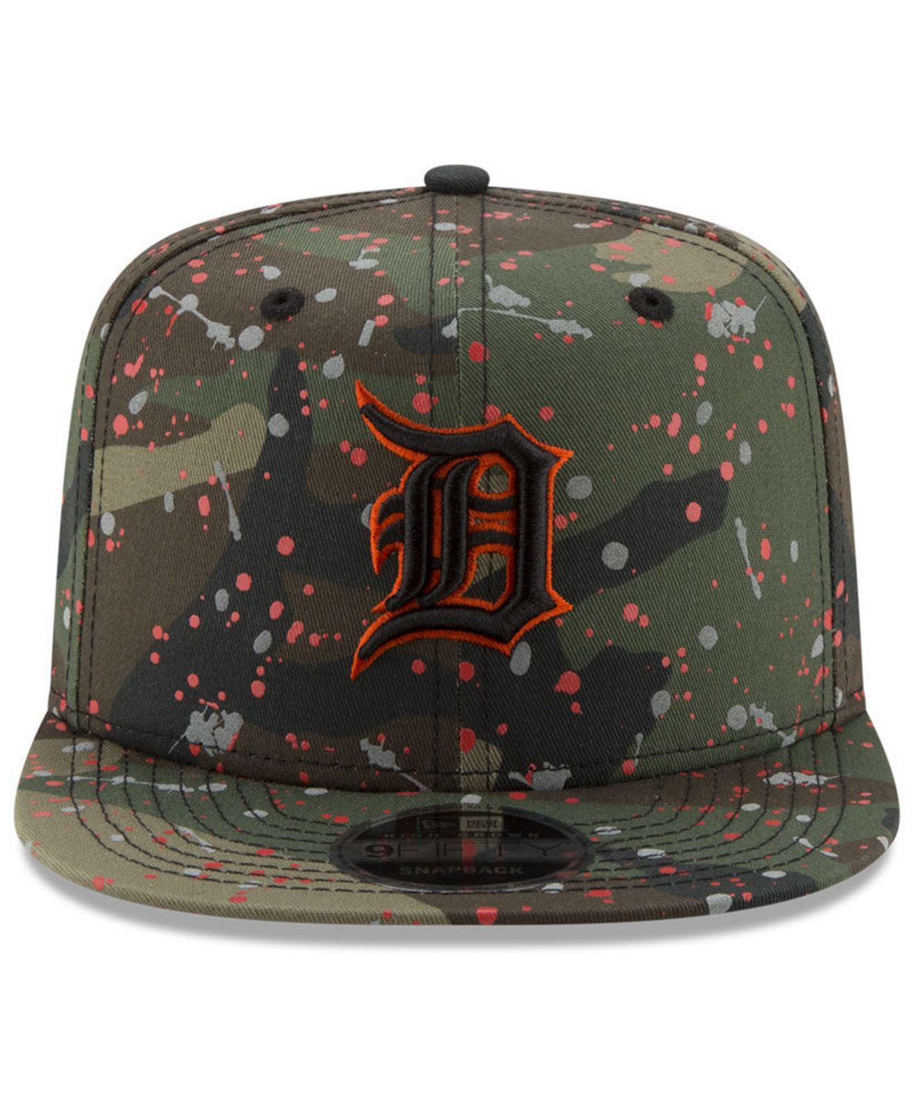 017e876d10f Lyst - Ktz Detroit Tigers Camo Spec 9fifty Snapback Cap in Green for Men