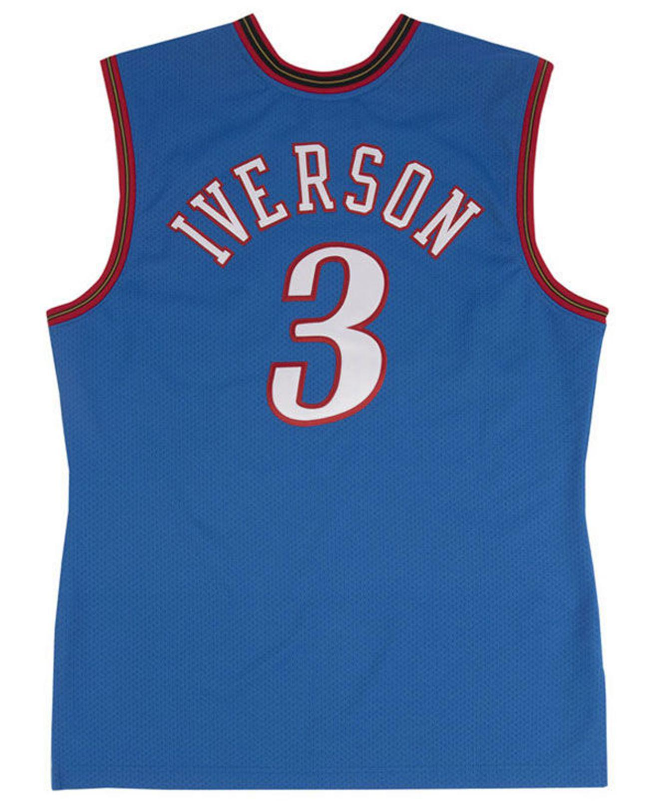 Lyst - Mitchell   Ness Allen Iverson Philadelphia 76ers Authentic Jersey in  Blue for Men 08159d842601