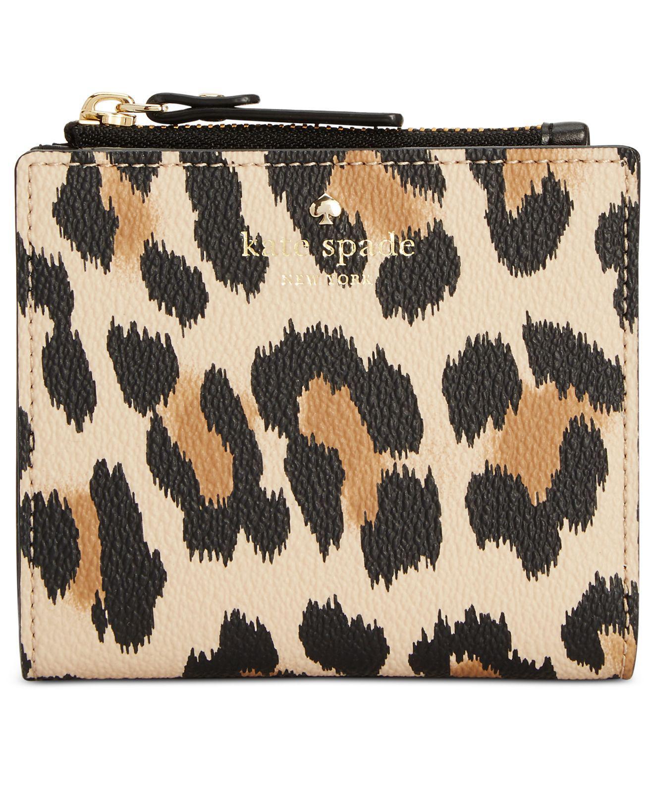 468e89fd5210 Kate Spade Hyde Lane Leopard-print Adalyn Wallet - Lyst