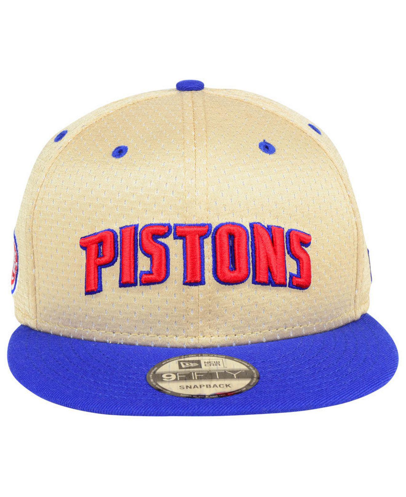 official photos c7785 bb70e ... norway lyst ktz detroit pistons champagne 9fifty snapback cap in blue  for men 7847c 30630