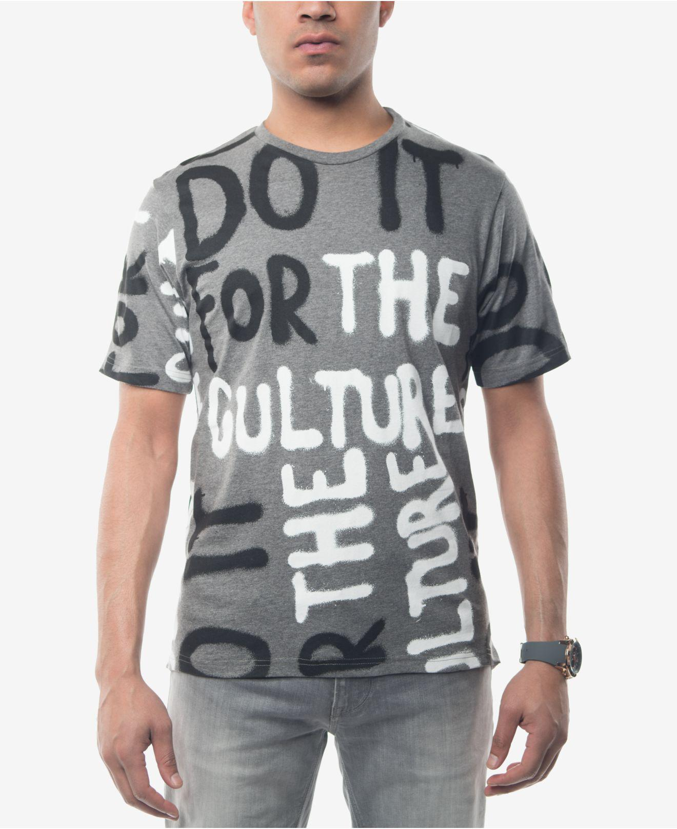 Lyst Sean John Mens Do It For The Culture Graphic Print T Shirt