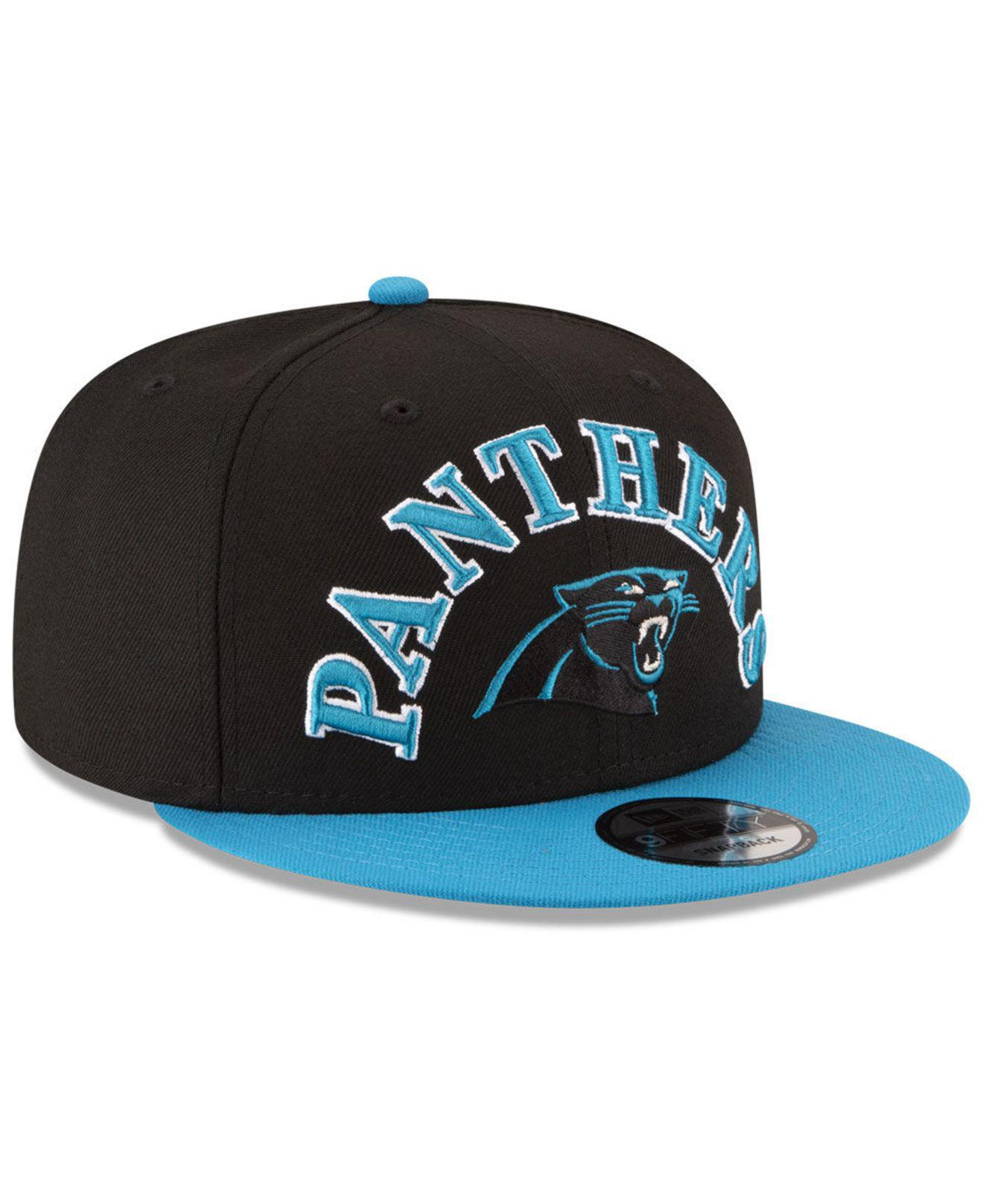 87ec26c5 Men's Black Carolina Panthers Retro Logo 9fifty Snapback Cap
