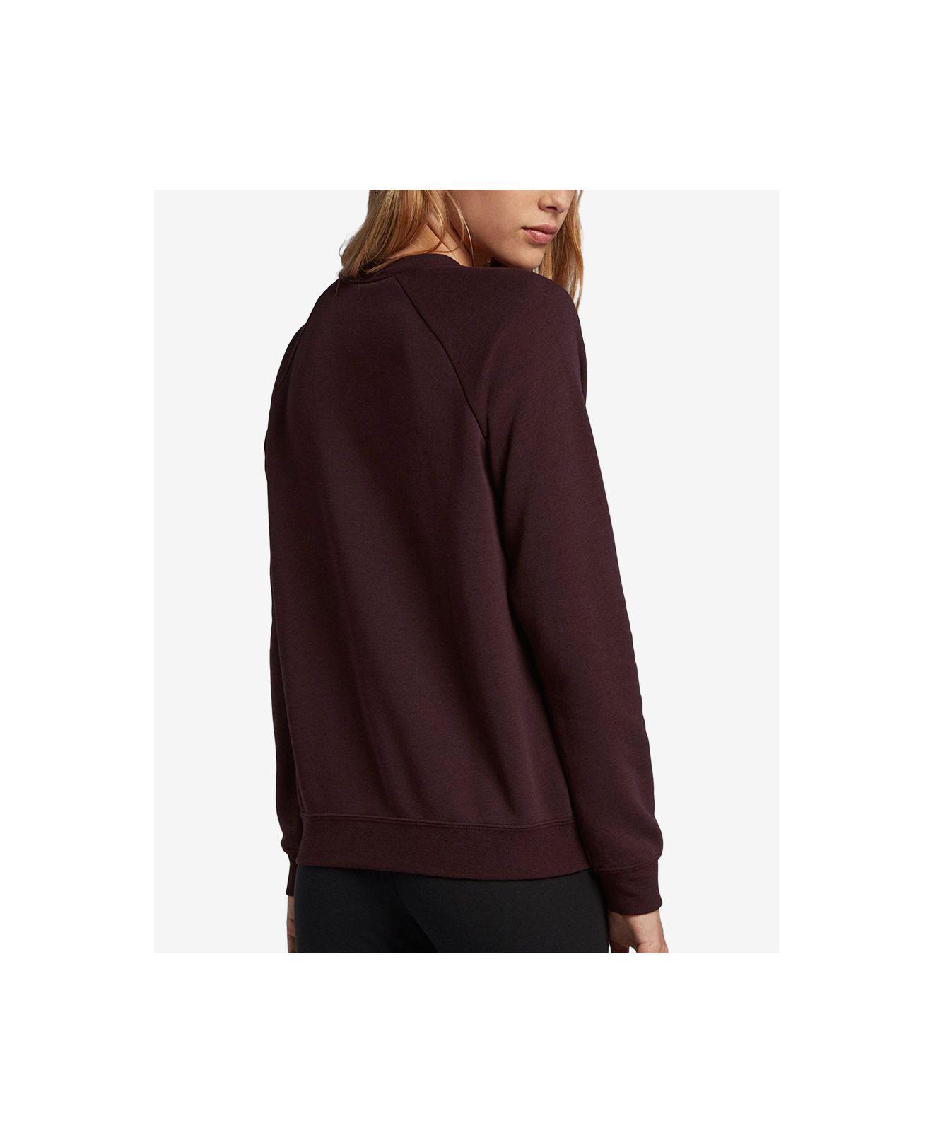 9a41d37ae11e Lyst - Nike Sportswear Rally Logo Fleece Sweatshirt in Purple