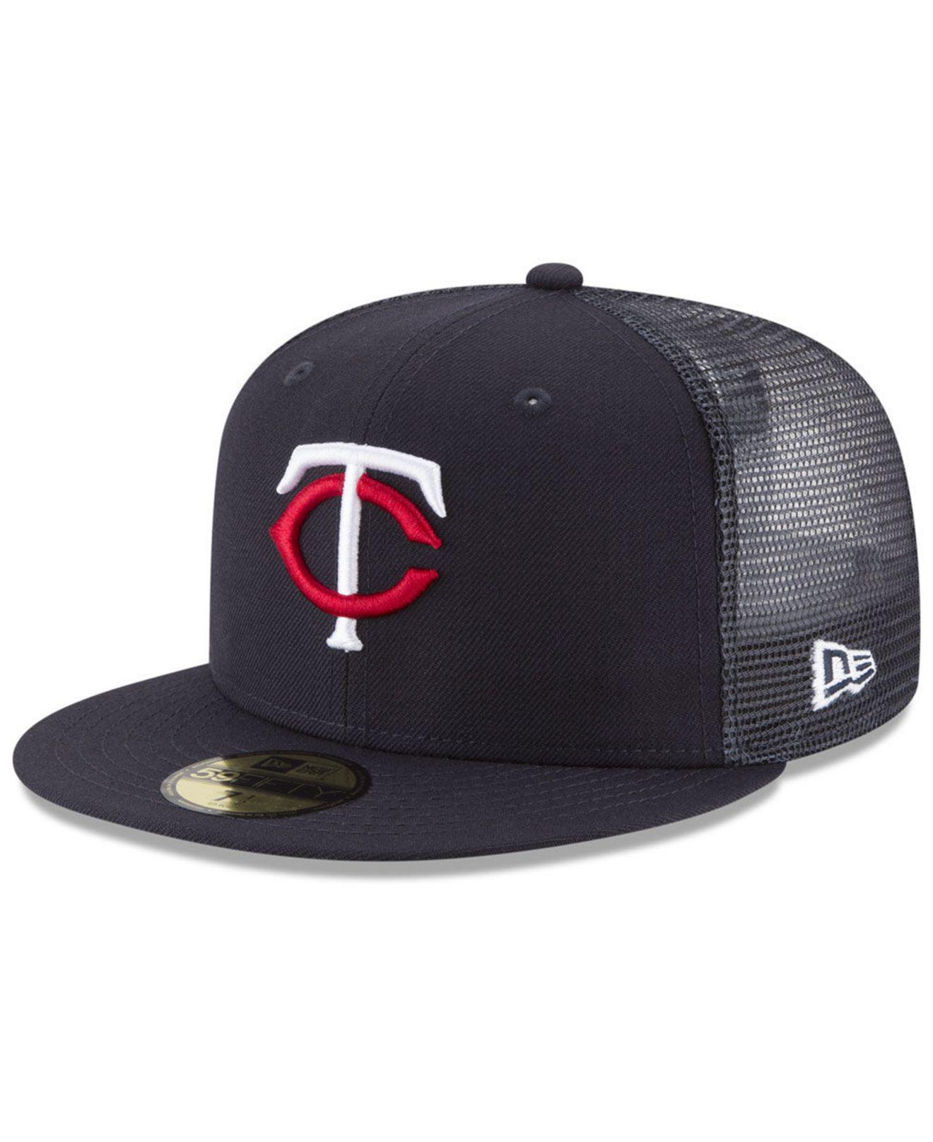 new style 8ca92 f6ab2 KTZ. Men s Blue Minnesota Twins On-field Mesh Back 59fifty Fitted Cap