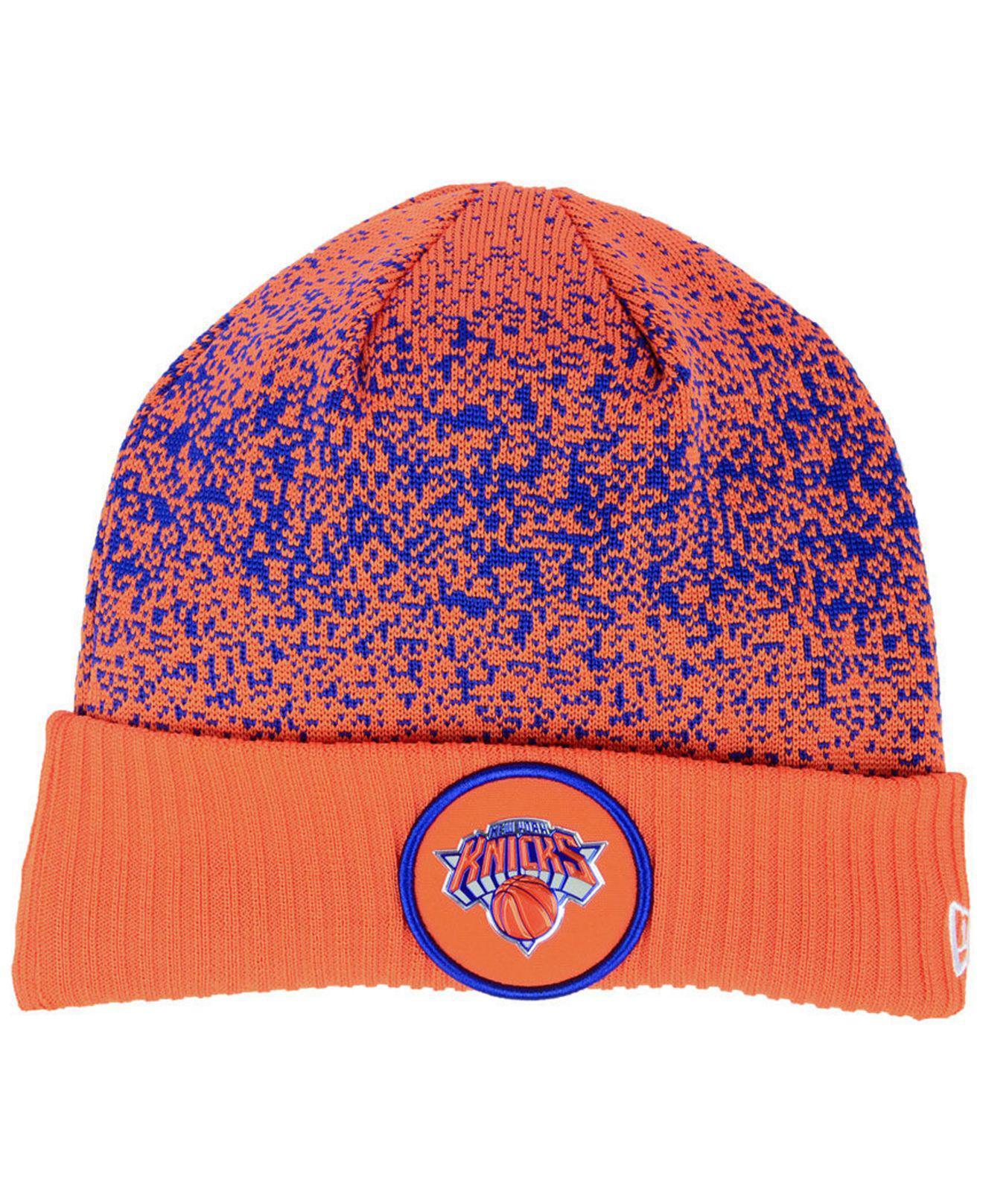 5bd85b329eb7 ... Shop; 81dd930f1659c Lyst - KTZ New York Knicks On Court Collection Cuff  Knit Hat for Men ...