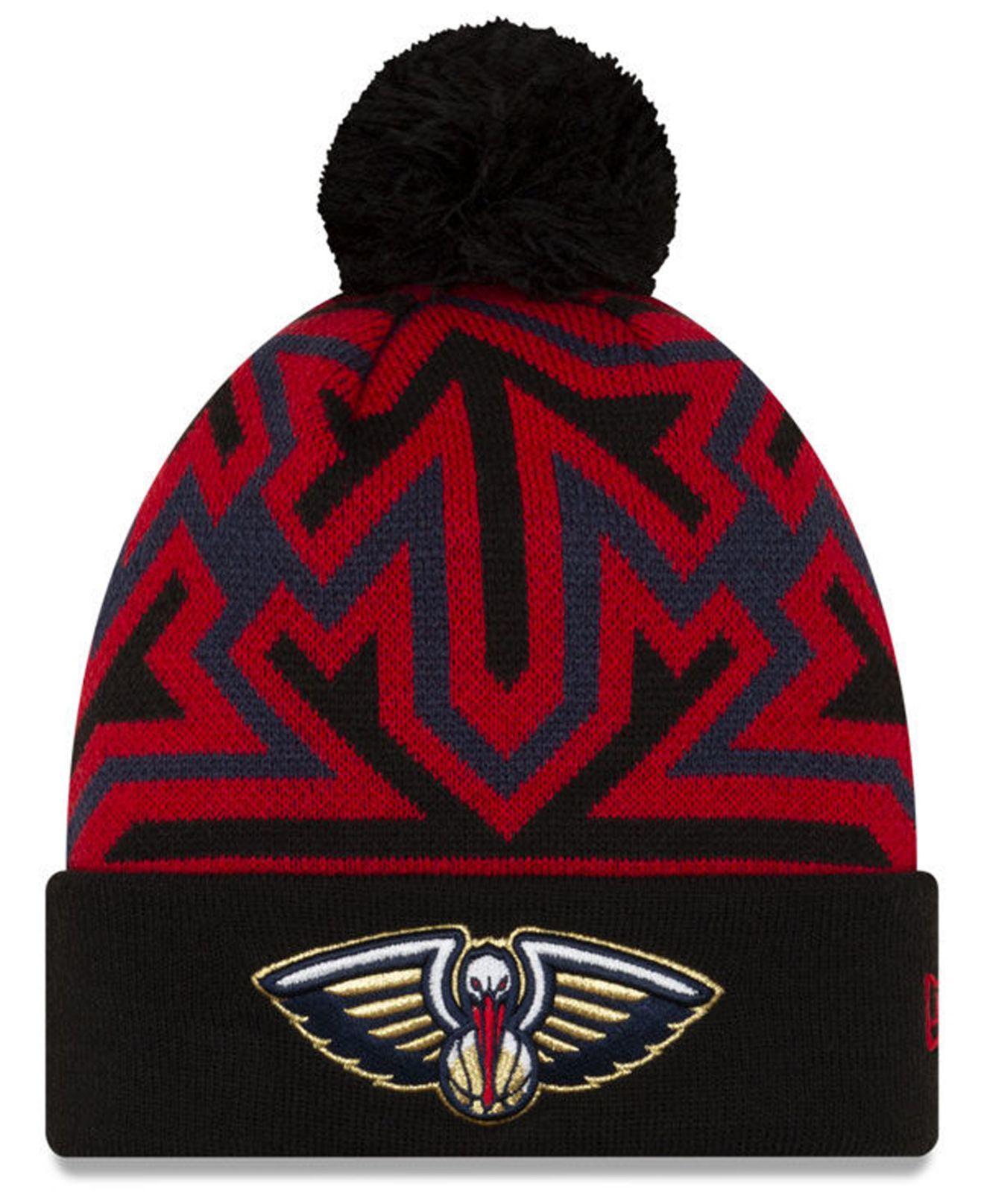 New Orleans Pelicans Big Flake Pom Knit Hat