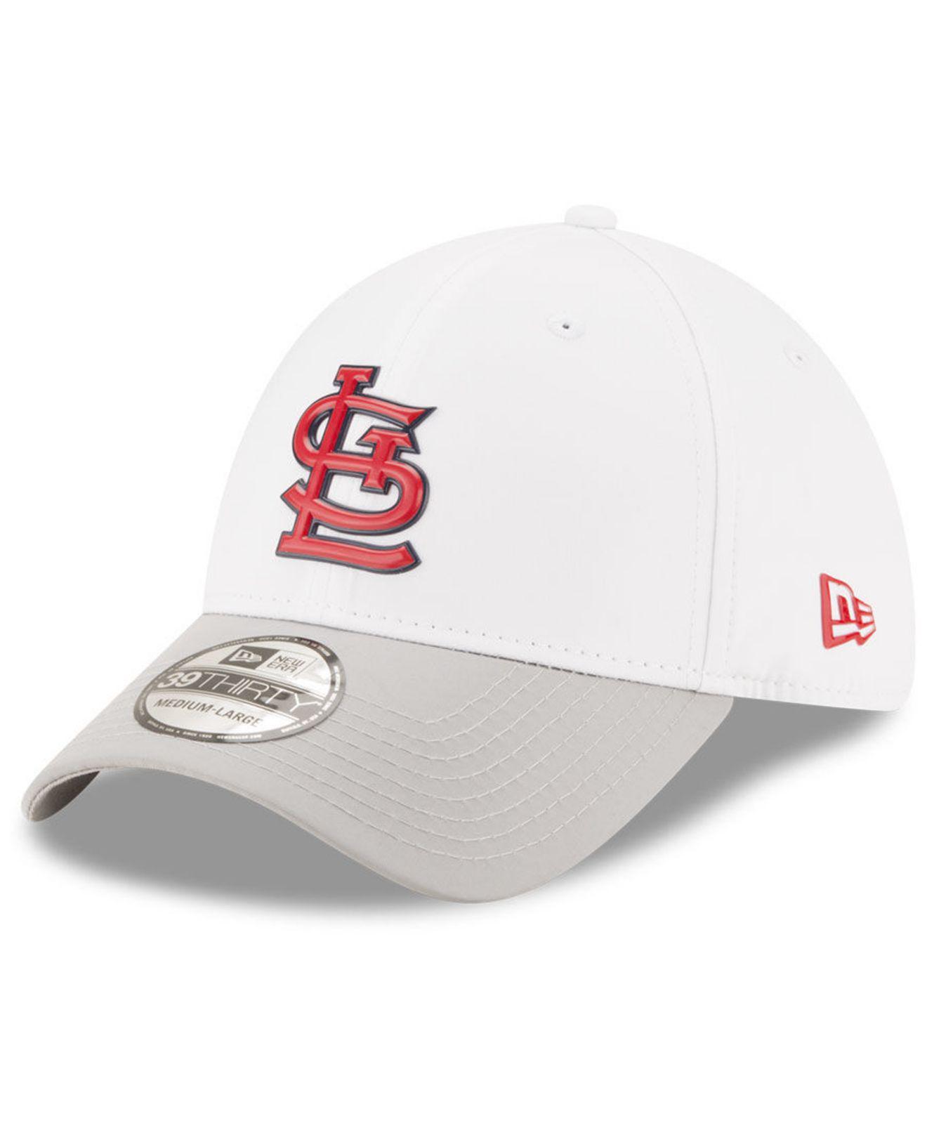 KTZ - St. Louis Cardinals White Batting Practice 39thirty Cap for Men -  Lyst. View fullscreen 298f2d4afa63