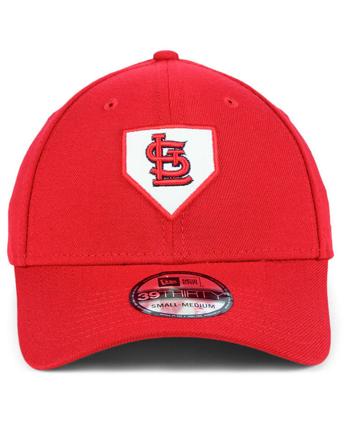 reputable site b4c2e 1cc48 ... authentic lyst ktz st. louis cardinals the plate 39thirty cap in red  for men 9754b