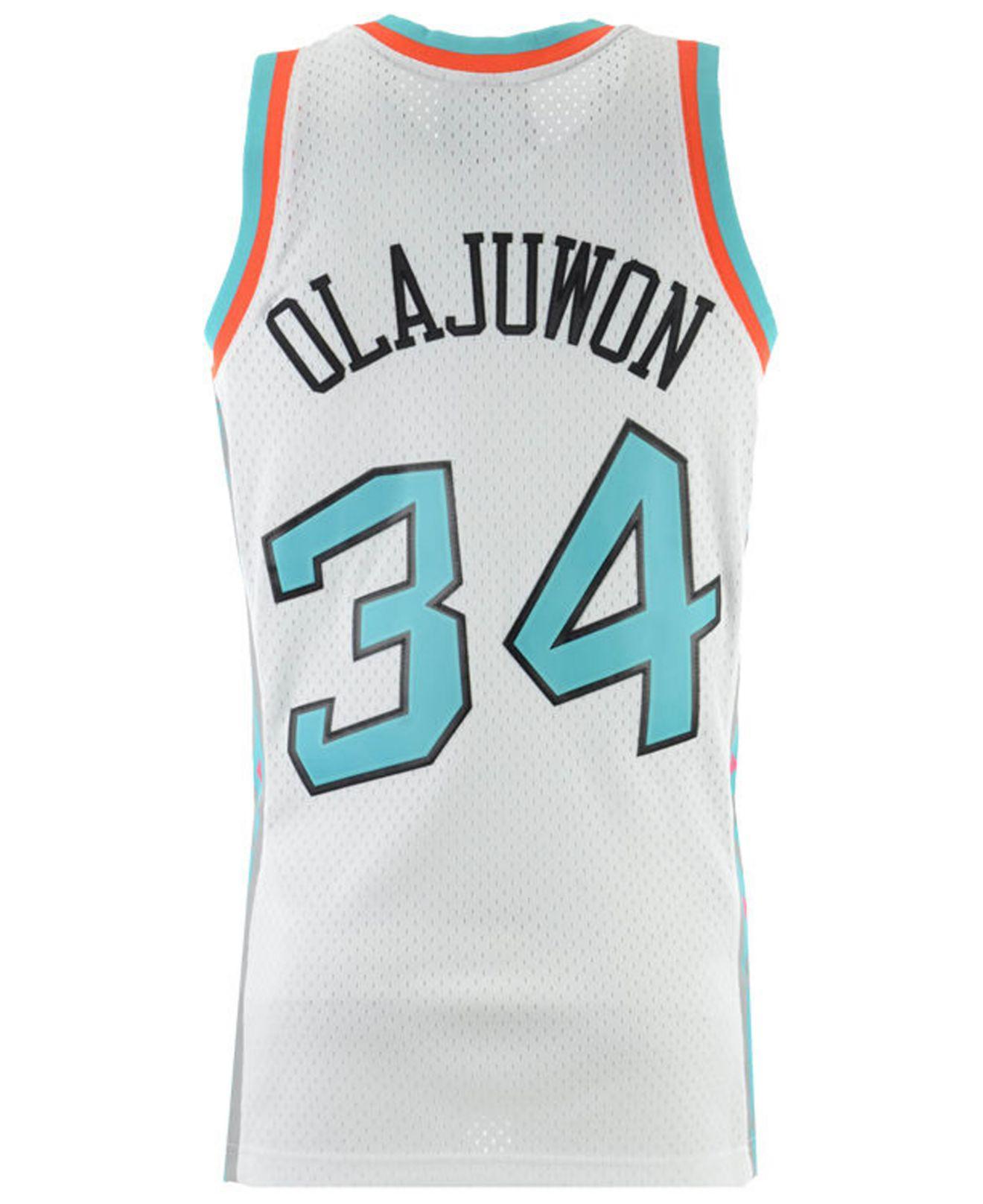 best sneakers c4d88 6cc99 Men's Blue Hakeem Olajuwon Nba All Star 1996 Swingman Jersey
