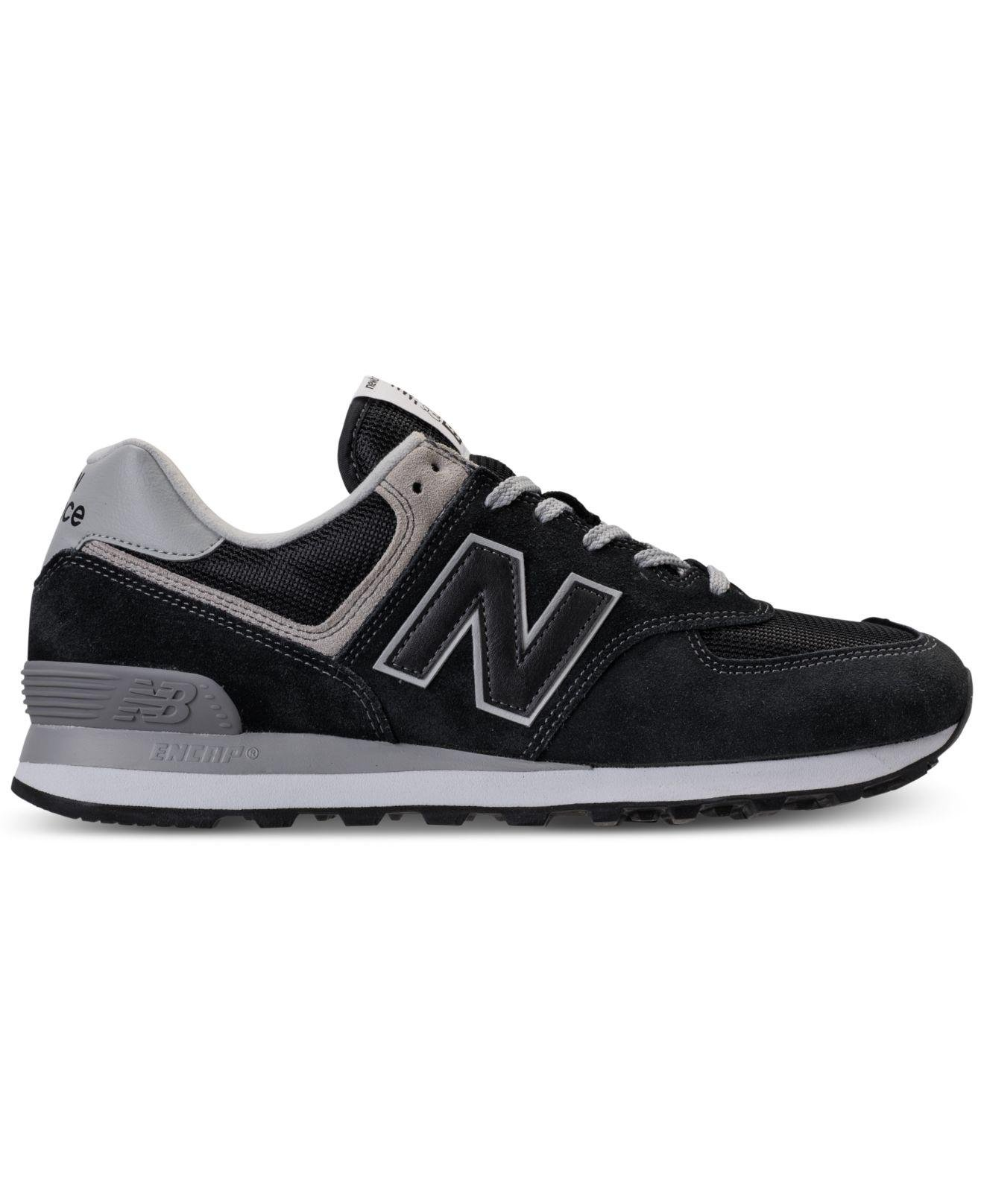 2bac6c328d750 Lyst - New Balance 574 Casual Sneakers From Finish Line in Black for Men