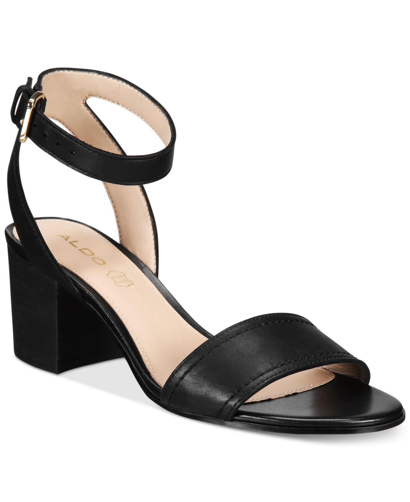 ce3c69f7311e Lyst - ALDO Women s Lolla Two-piece Block-heel Sandals in Black