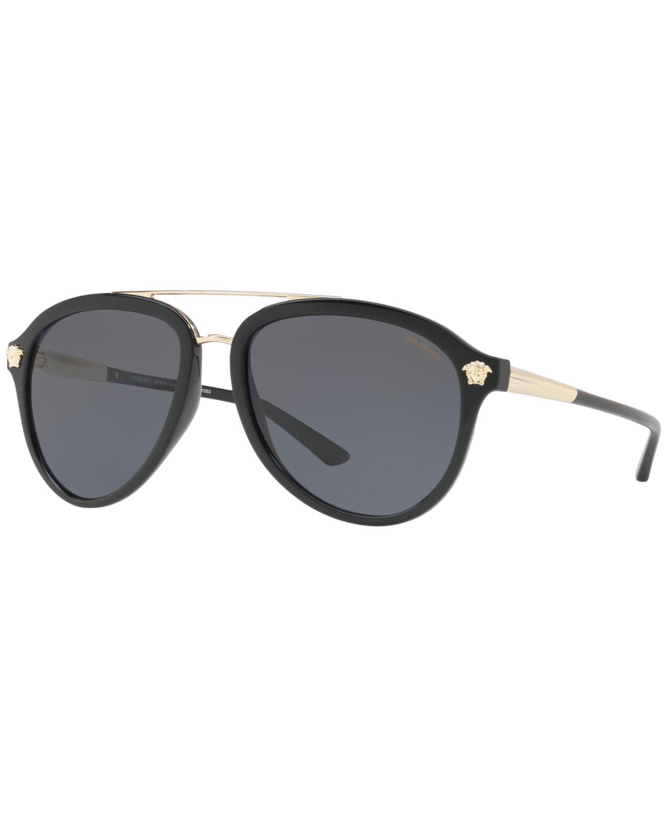 c4e4cf44c70f Versace Gray Sunglasses, Ve4341 for men. View fullscreen