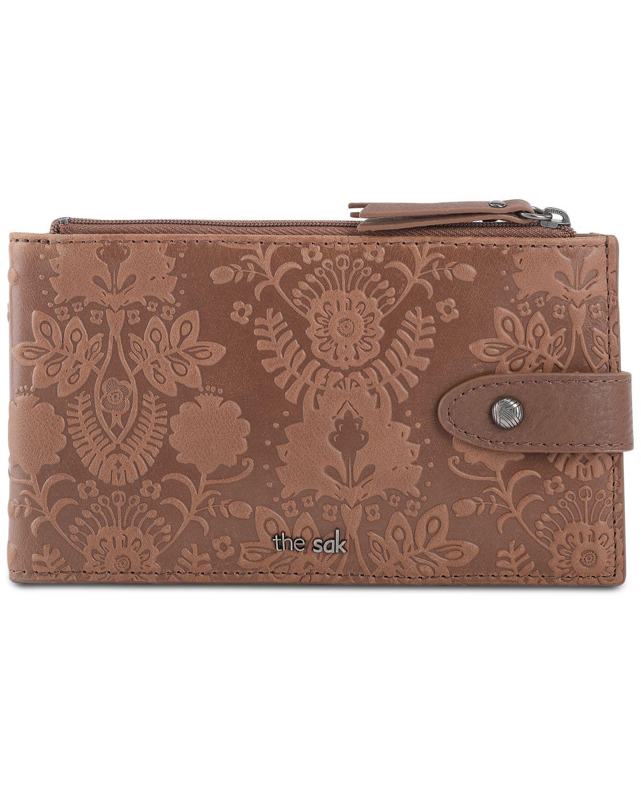 17d65721d961 The Sak - Brown Silverlake Slim Leather Credit Card Wallet - Lyst. View  fullscreen