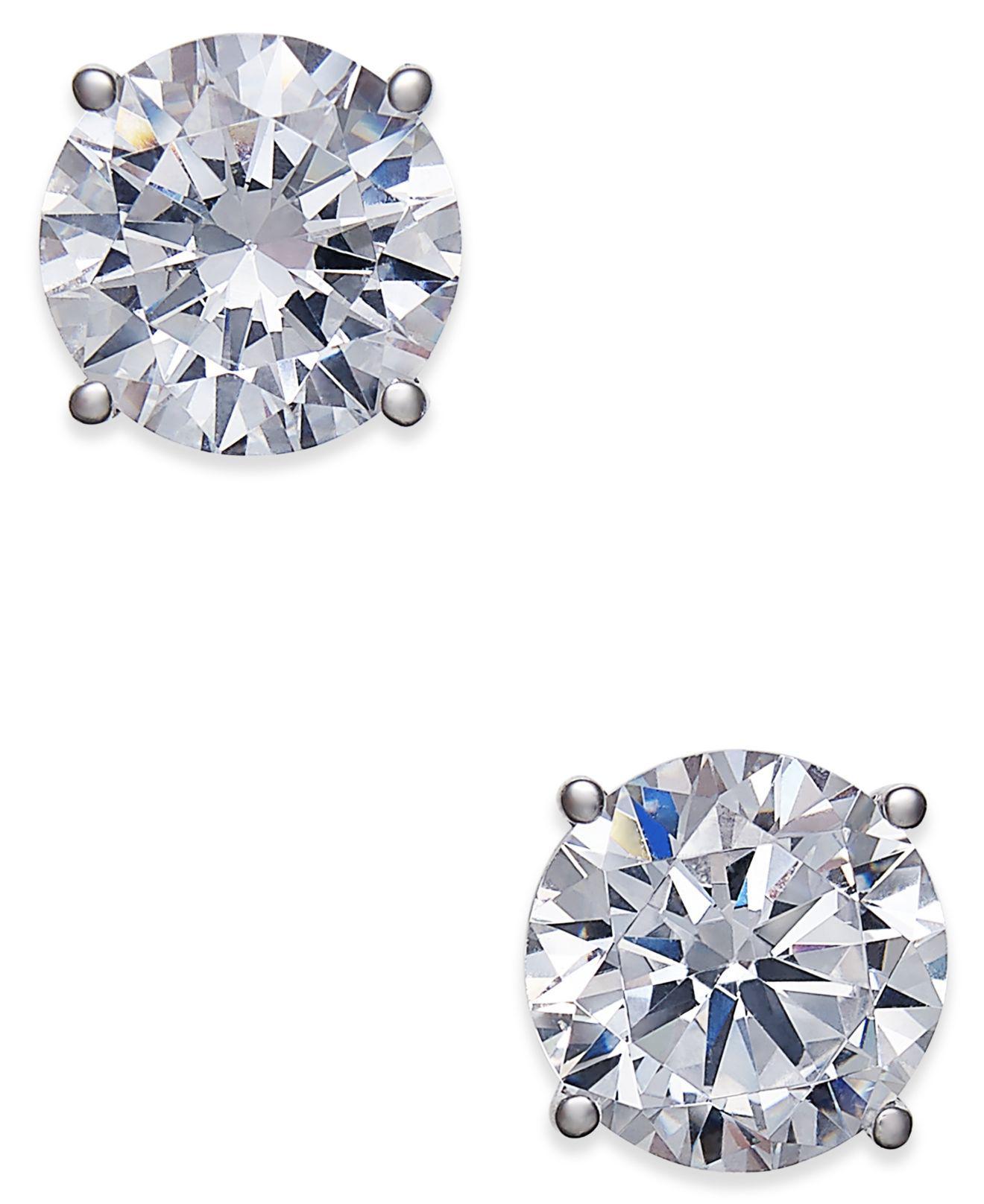 22a11e005 Lyst - Macy's Certified Diamond Stud Earrings (2 Ct. T.w.) In 18k ...