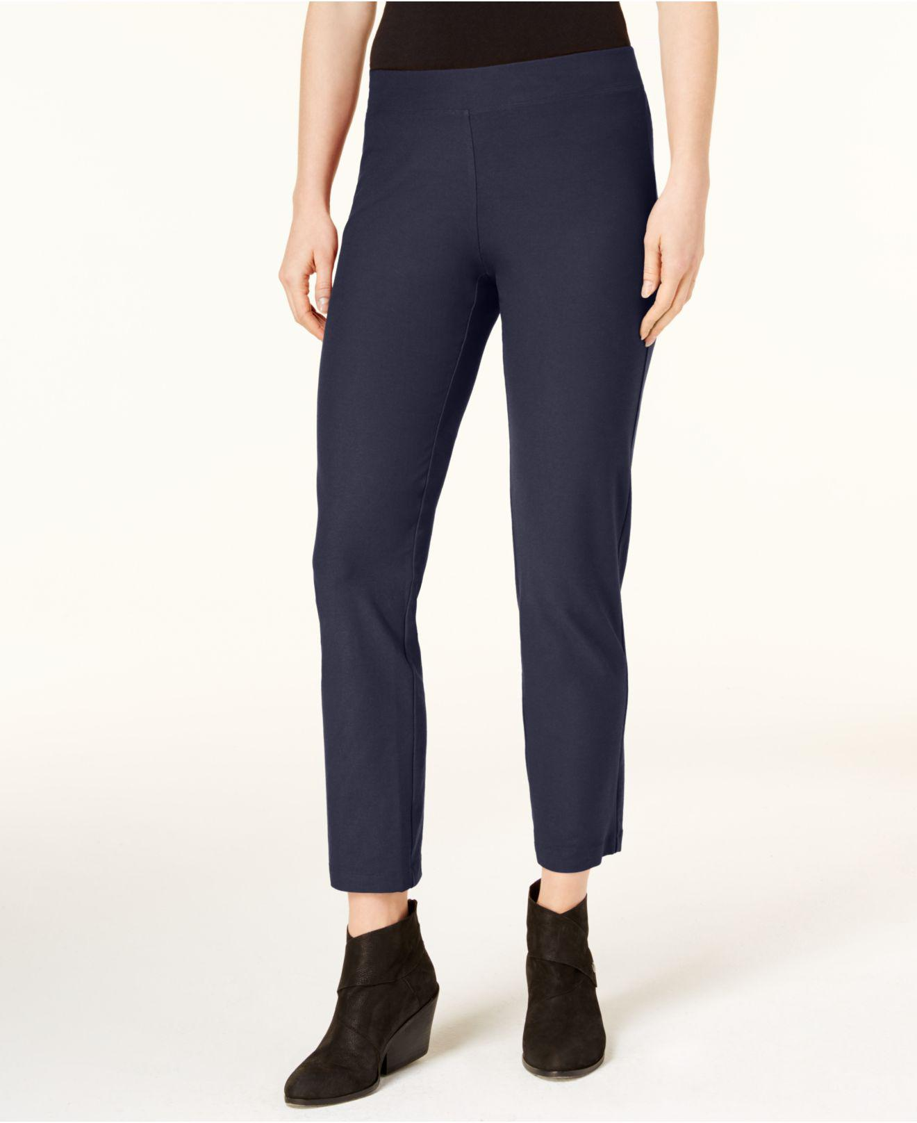 8e97c51d720 Lyst - Eileen Fisher Slim-pull-on Ankle Pants in Blue - Save 31%