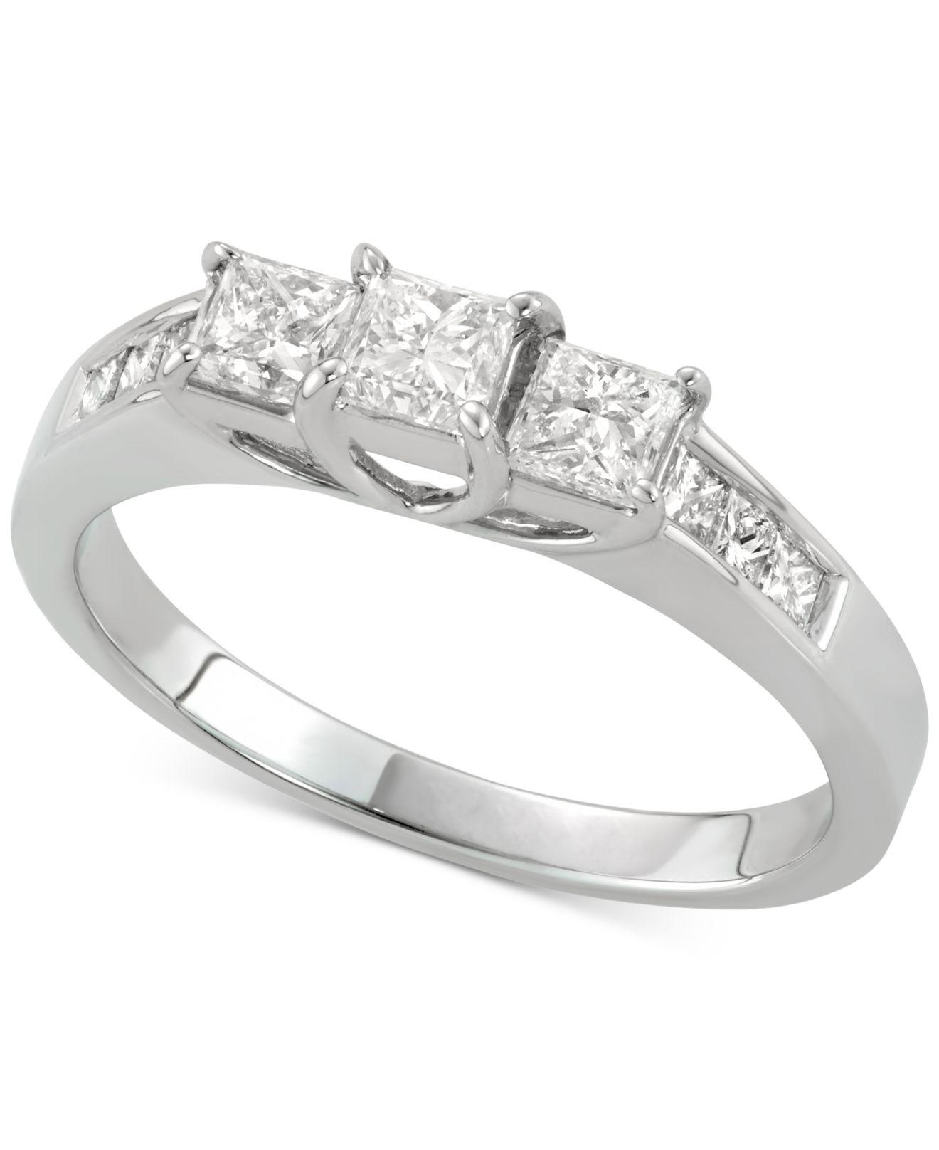 Macy's Diamond Princess Engagement Ring (1 Ct. T.w.) In