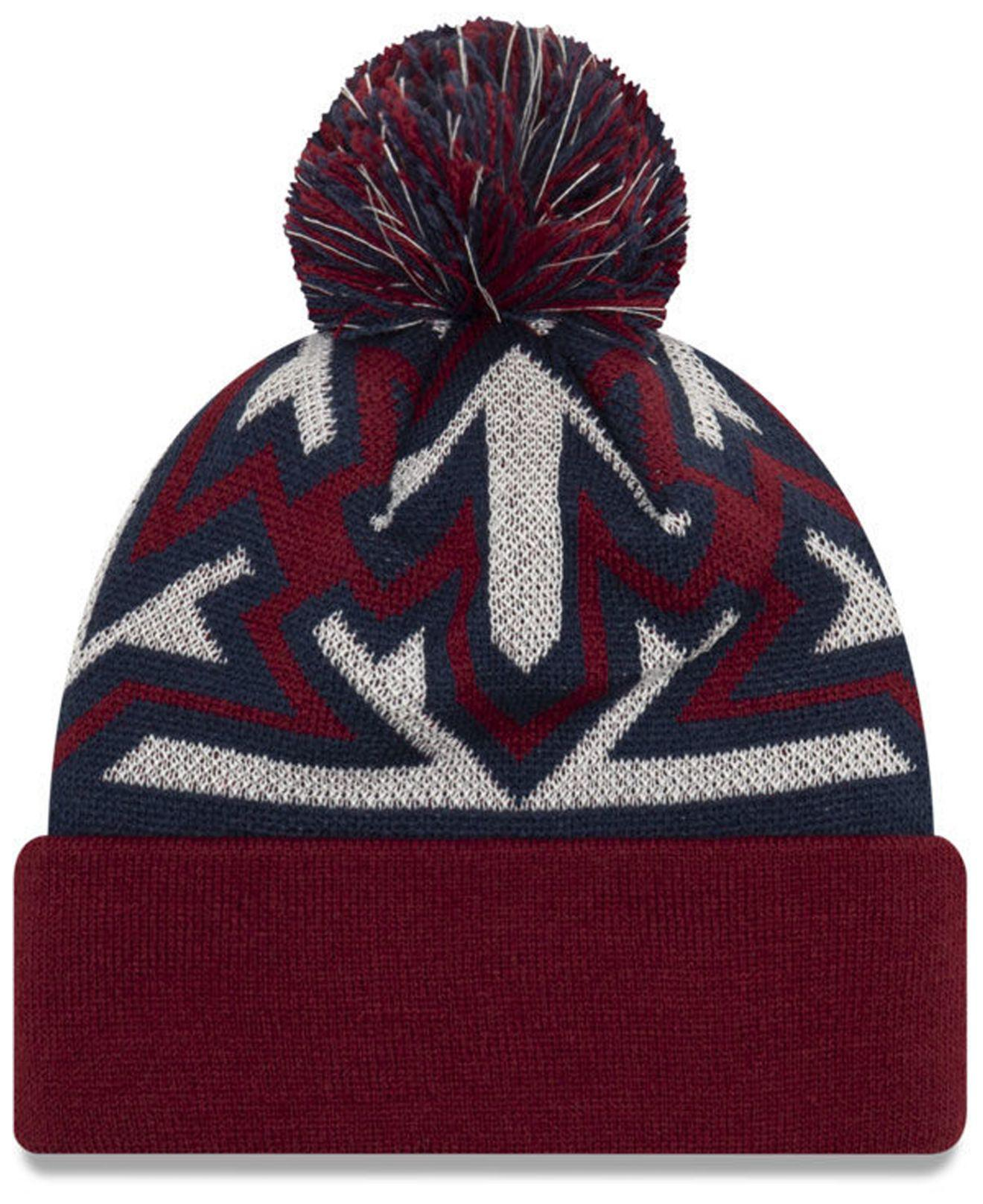 61fea9ce683b7 Lyst - Ktz Cleveland Cavaliers Glowflake Cuff Knit Hat in Blue for Men