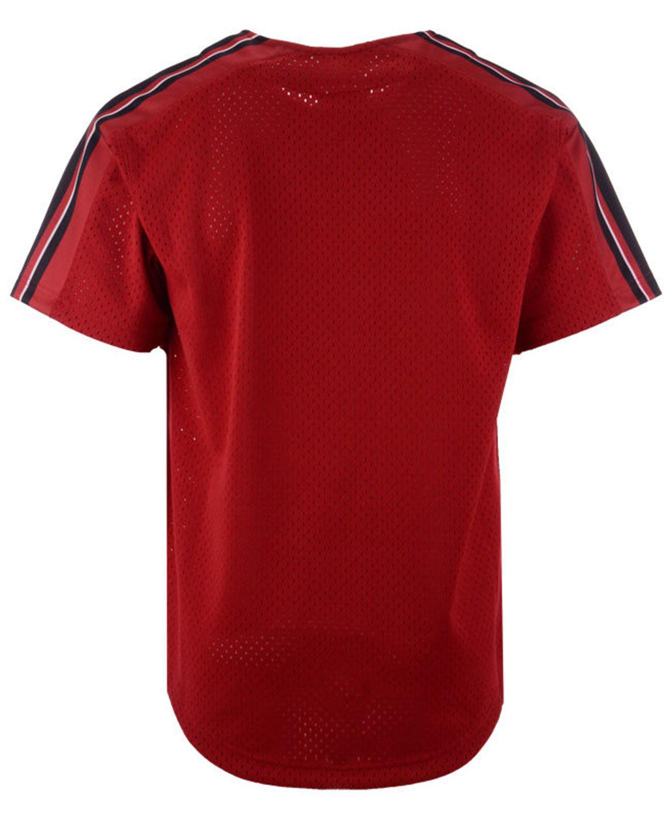 039a5f30d Lyst - Mitchell   Ness San Francisco 49ers Winning Team Mesh Button Front  Jersey in Red for Men