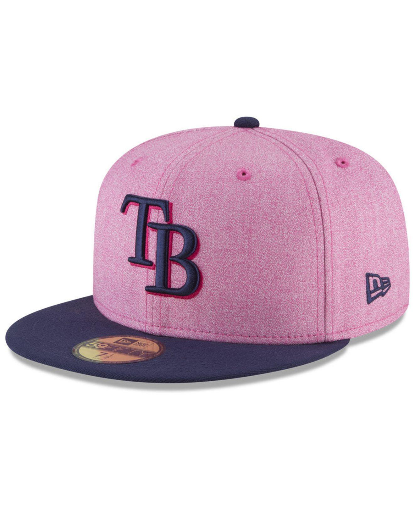 check out 403e9 8c075 ... where can i buy ktz. womens pink tampa bay rays mothers day 59fifty  fitted cap