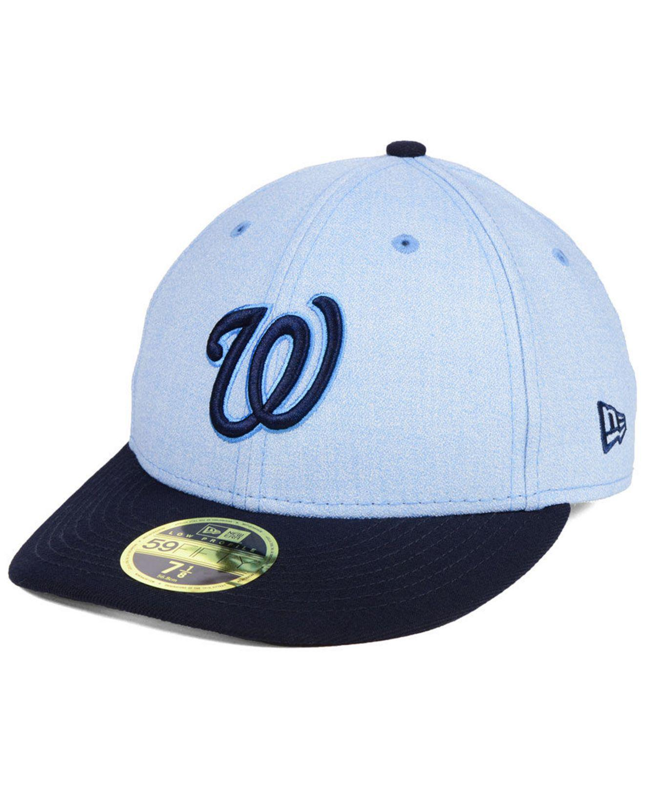 84b36af2a07 KTZ - Blue Washington Nationals Father s Day Low Profile 59fifty Cap for  Men - Lyst. View fullscreen