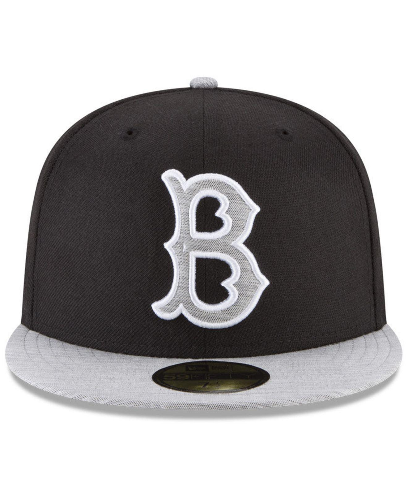 super popular 646fa a2494 wholesale lyst ktz brooklyn dodgers black heather coop 59fifty fitted cap  in black for men b4641
