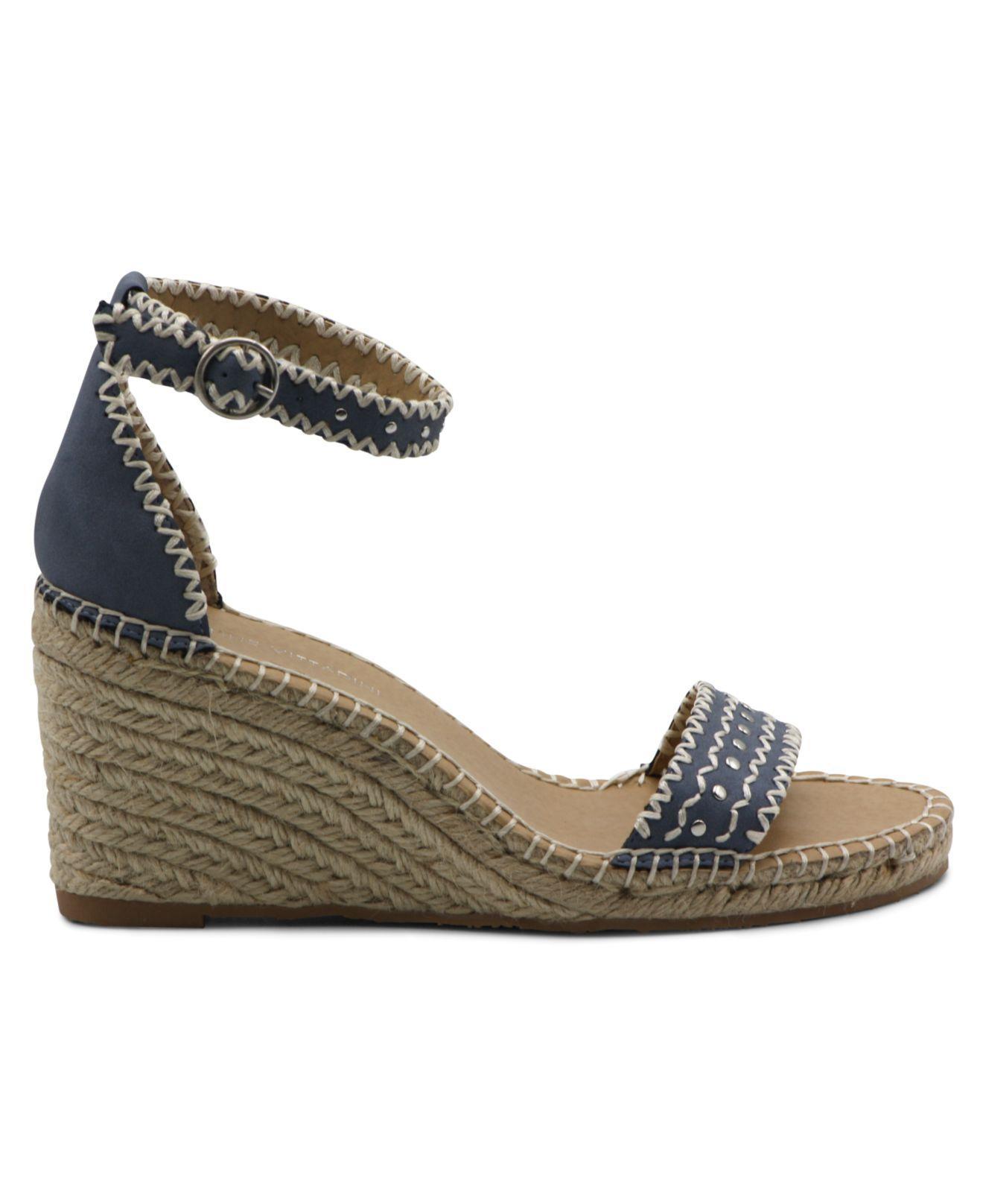 9dc303c000c Women's Blue Charming Espadrille Wedge Sandal