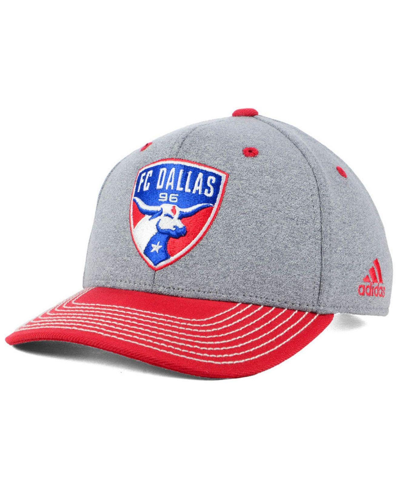 online retailer 8e4a4 22f0a Lyst - adidas Fc Dallas Structure Adjustable Cap in Red for Men