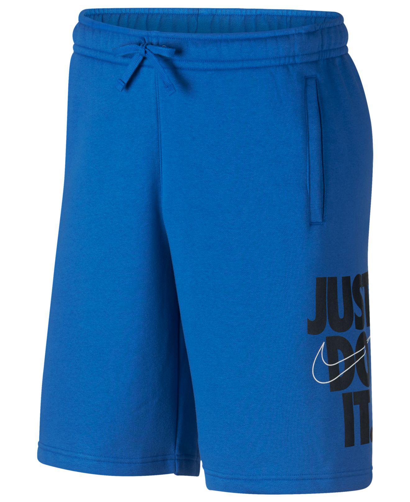 31fd757fa51 Men's Blue Just Do It Fleece Shorts