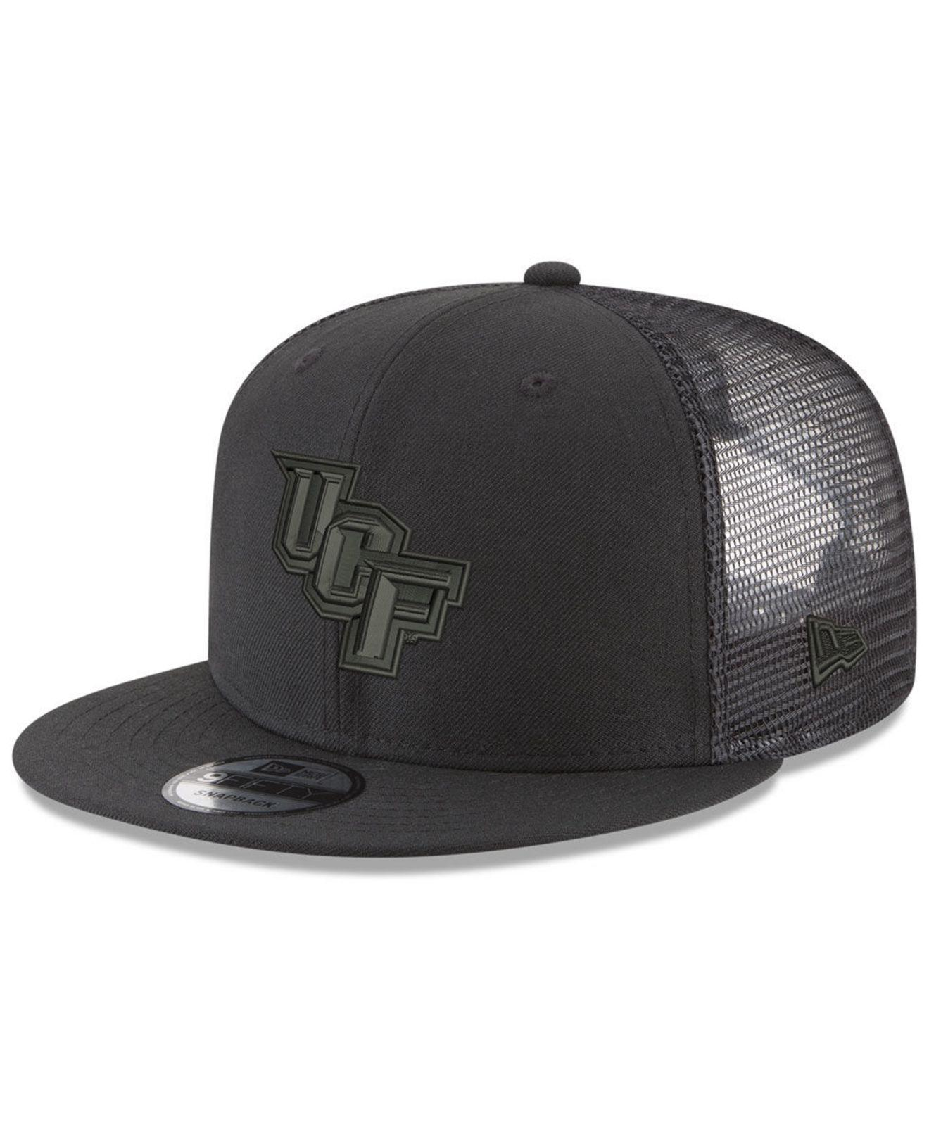 new style 8115e c0d75 KTZ. Men s University Of Central Florida Knights Black On Black Meshback  Snapback Cap