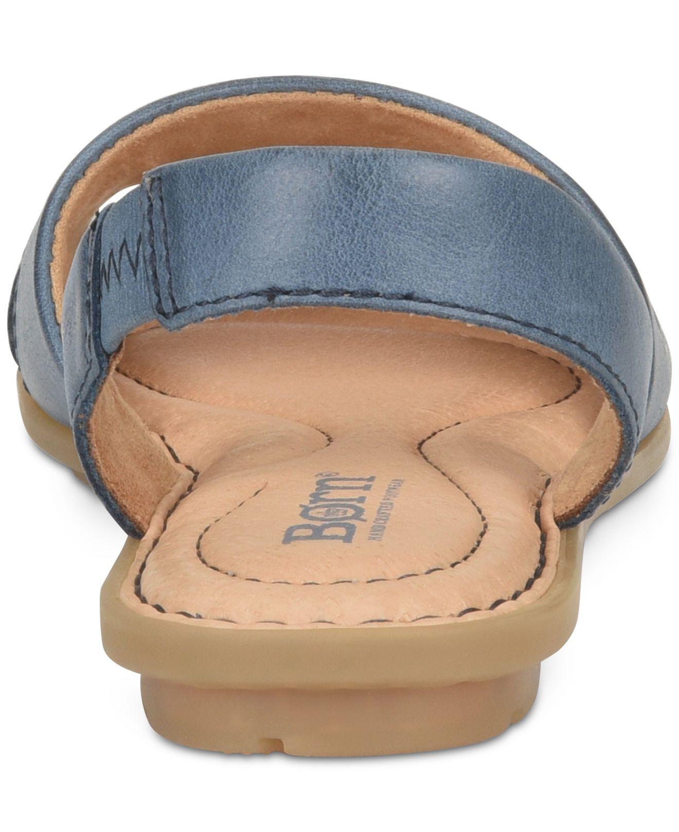 Details about  /Born Woman/'s Kibbee Flat Sandals Navy