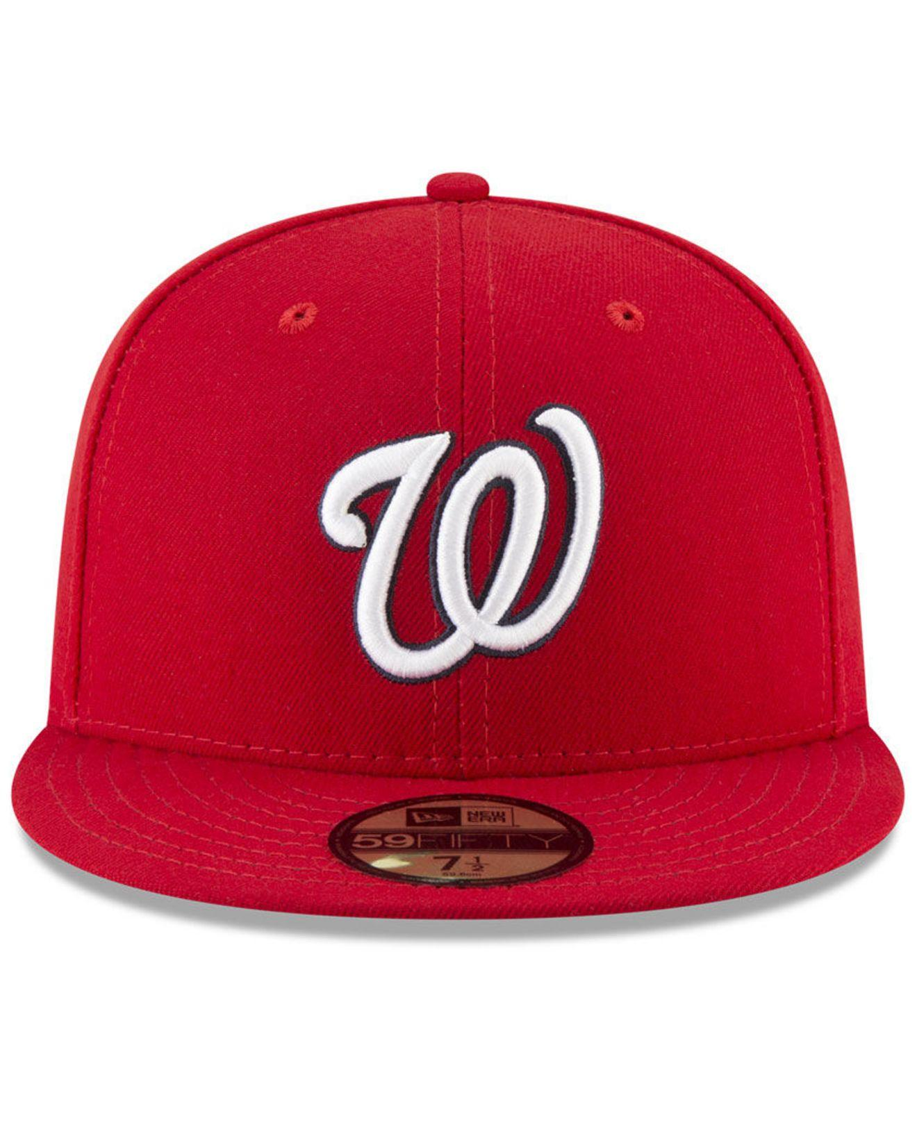 97cbb712555b7 KTZ Washington Nationals 150th Anniversary 59fifty-fitted Cap in Red ...