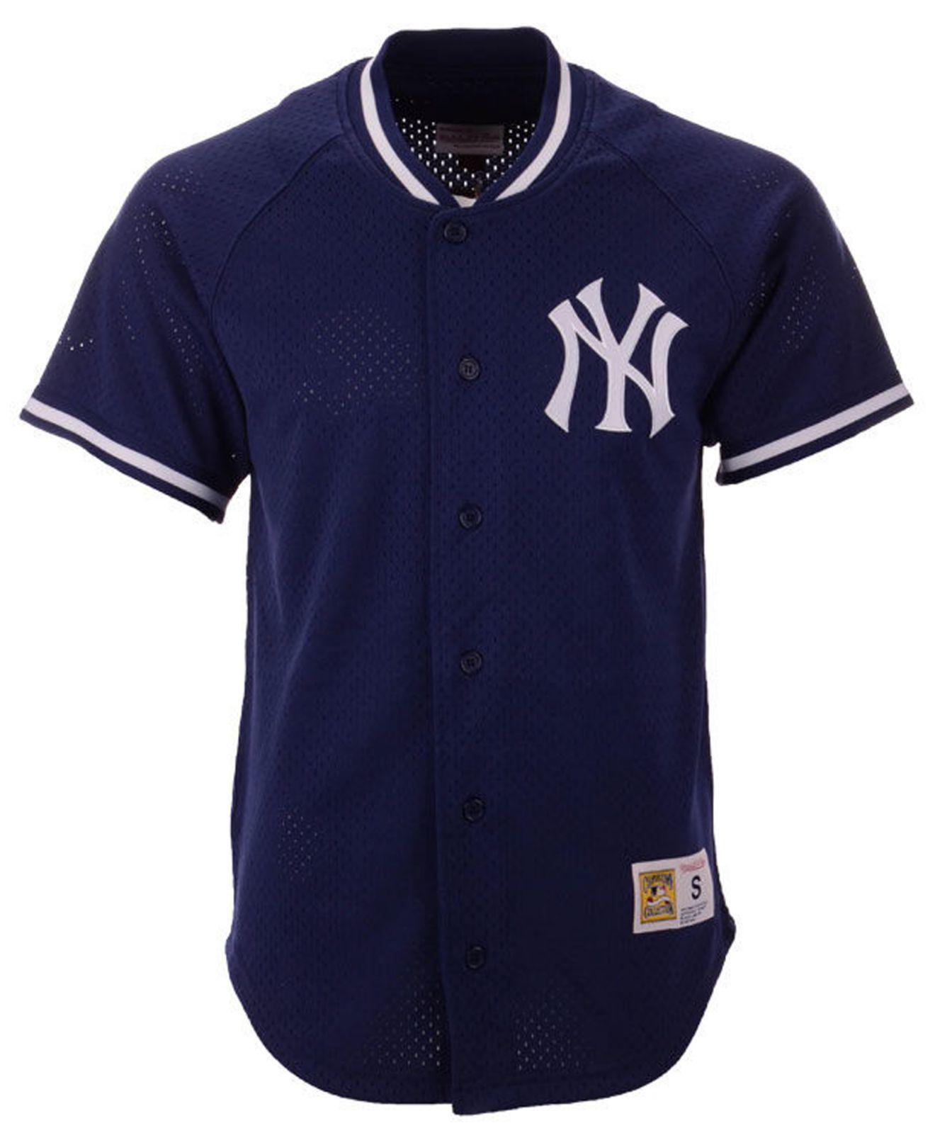 san francisco 49269 5e383 Men's Blue New York Yankees Pro Mesh Jersey