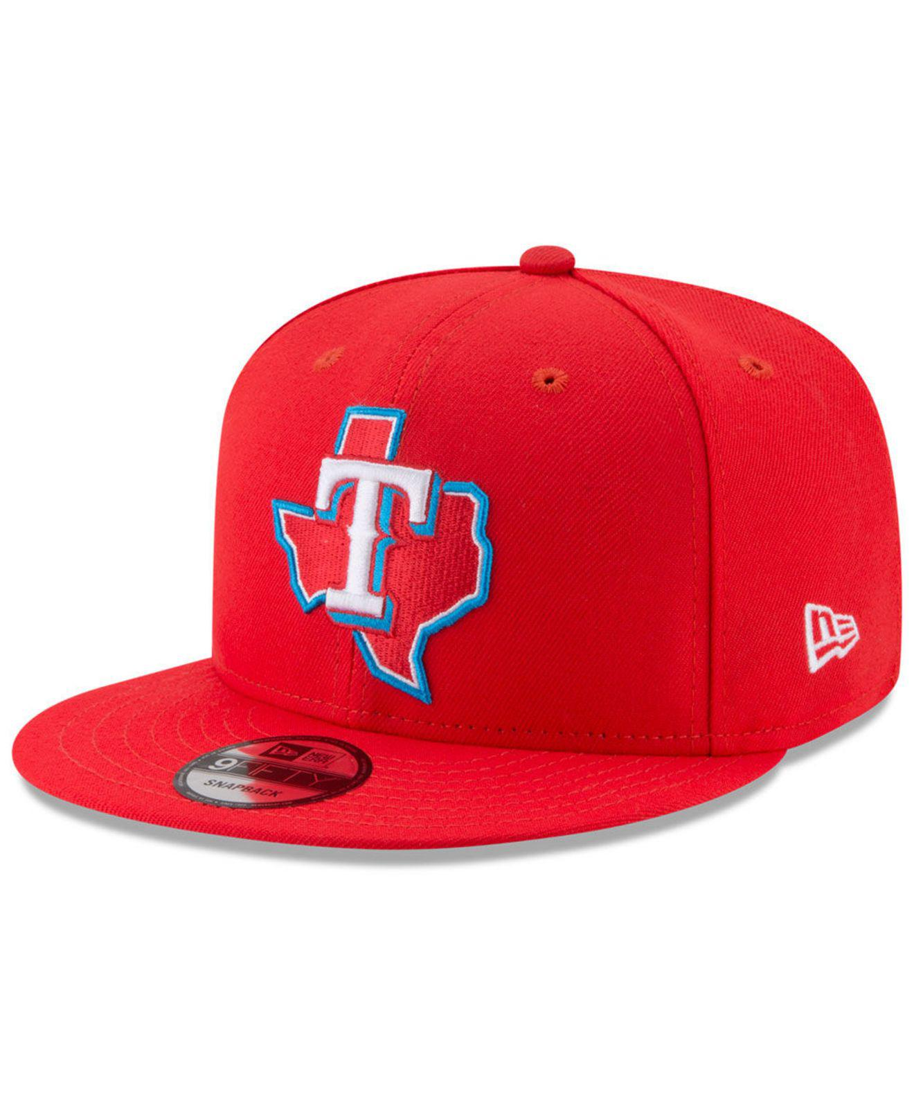 hot sale online df4d0 88bcb ... hot ktz. mens red texas rangers players weekend 9fifty snapback cap  50116 5ad3f