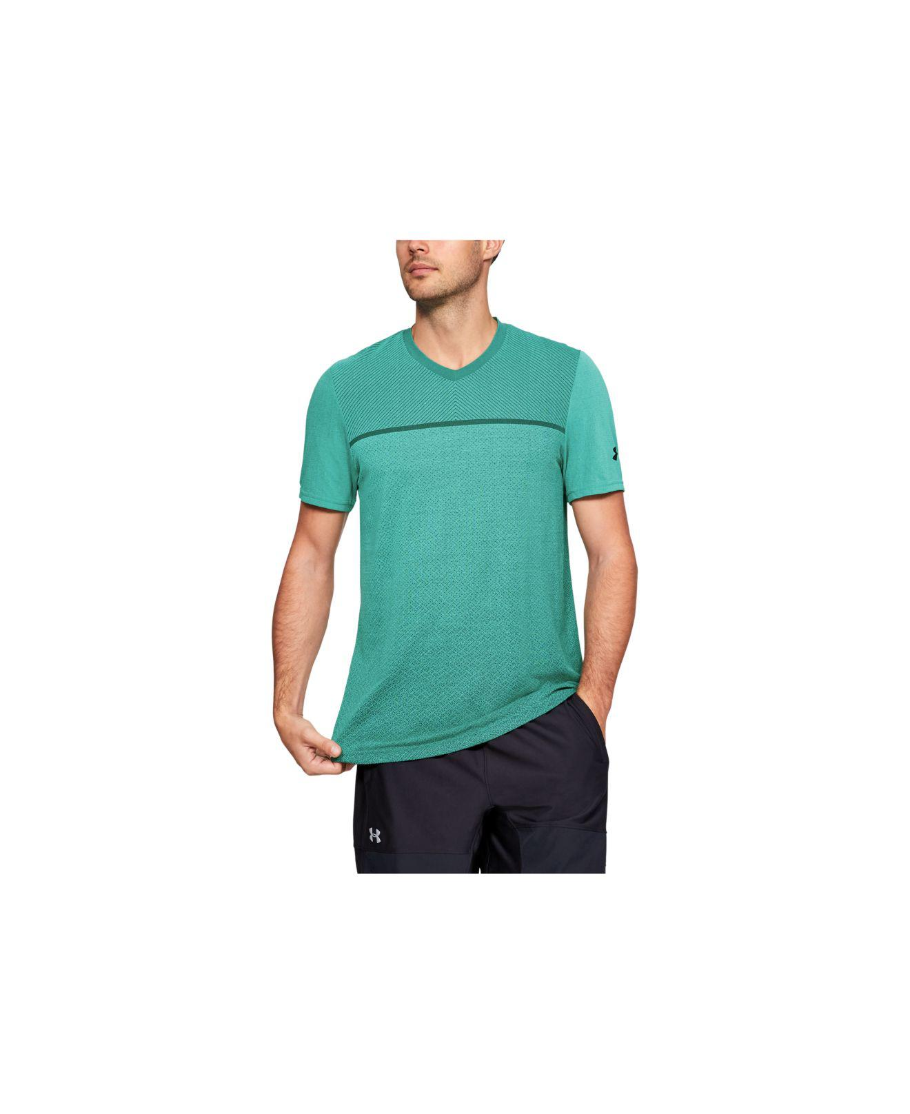 435c01d7 Lyst - Under Armour Siphon Short Sleeve V-neck in Green for Men ...