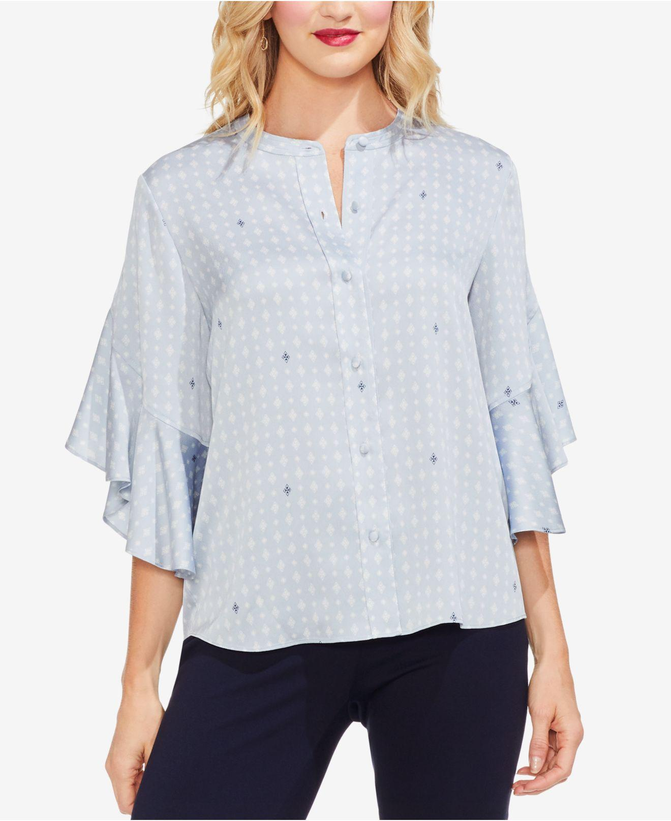 c5c67a1b869bd3 Vince Camuto. Women s Blue Ruffle-sleeve Blouse.  89  53 From Macy s