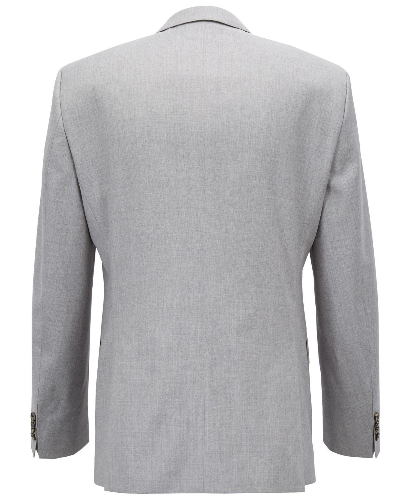 c945c109a Lyst - BOSS Slim-fit Natural Stretch Virgin Wool Suit in Gray for Men