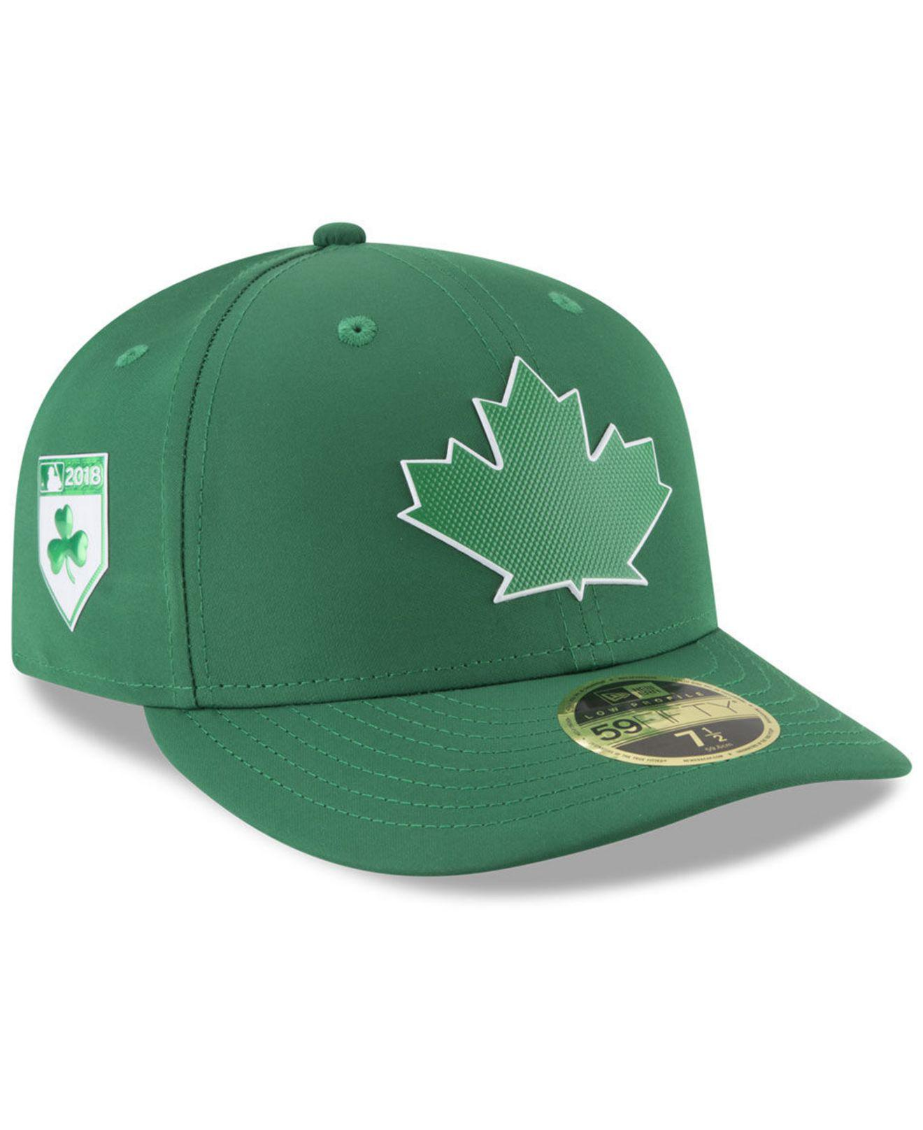 KTZ. Men s Green Toronto Blue Jays St. Patty s Day Pro Light Low Crown  59fifty Fitted Cap 7ce3b024aafd