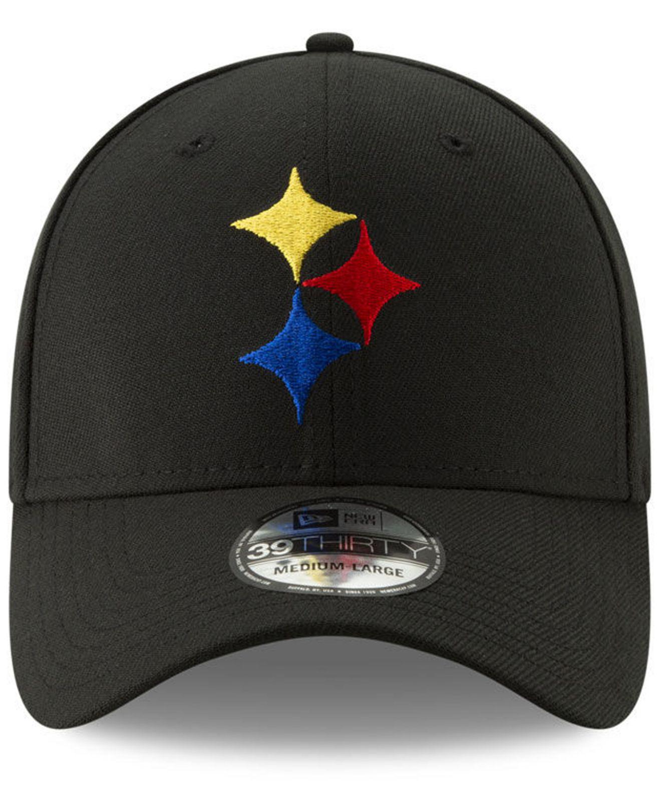 e80febbb280 Lyst - KTZ Pittsburgh Steelers Logo Elements Collection 39thirty Cap in  Black