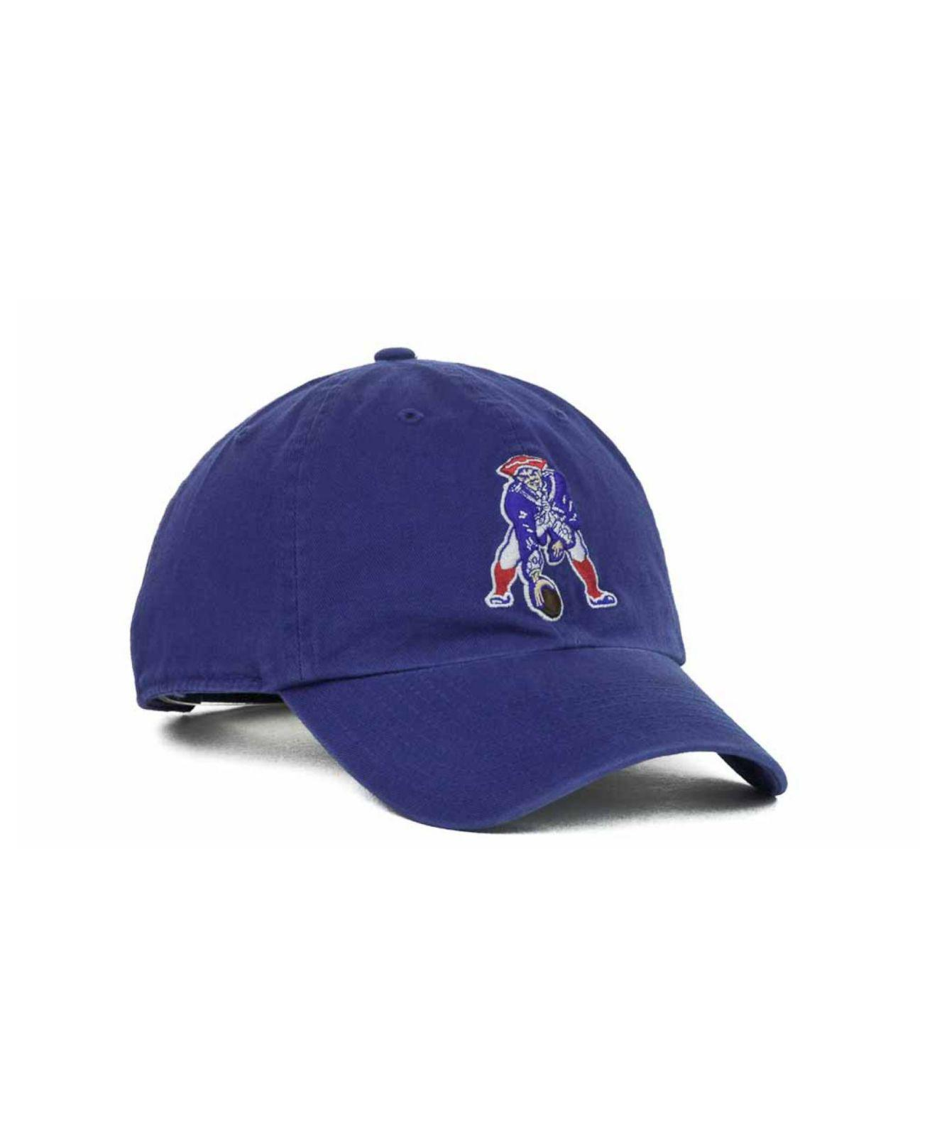 f279ffe14b8 47 Brand - Blue New England Patriots Clean Up Cap for Men - Lyst. View  fullscreen
