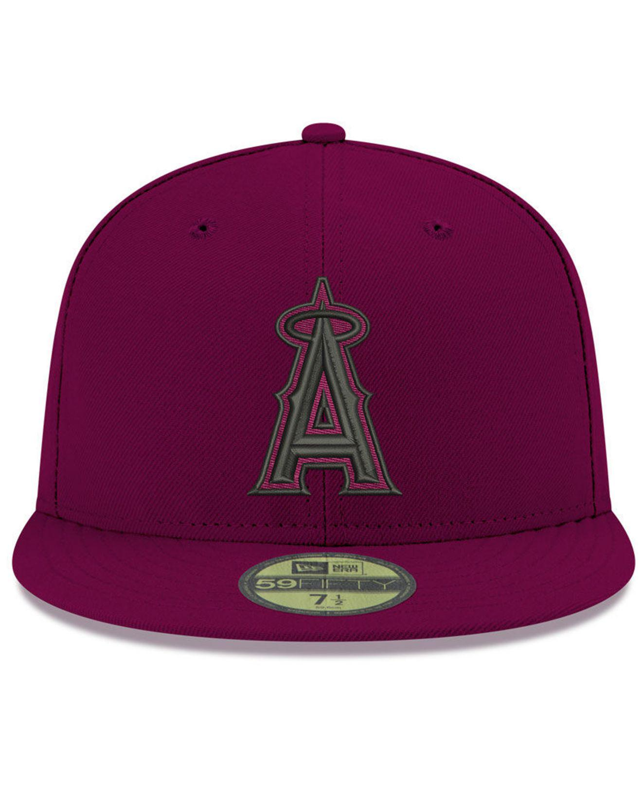 finest selection f4220 91410 KTZ Los Angeles Angels Reverse C-dub 59fifty Fitted Cap in Purple for Men -  Lyst
