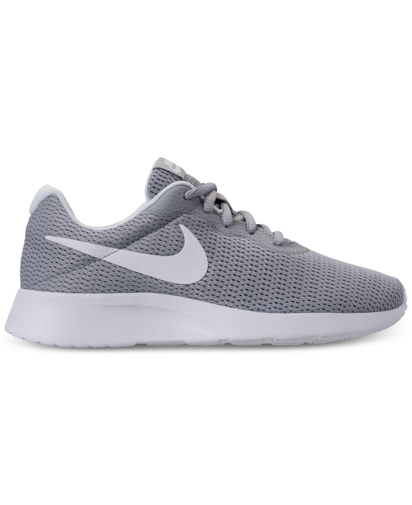 59b578dab66aa Lyst - Nike Tanjun Wide Width (2e) Casual Sneakers From Finish Line in Gray