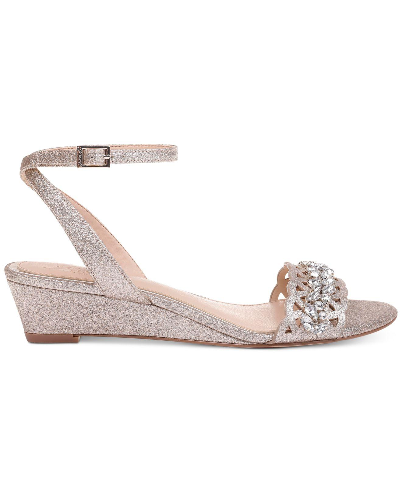 f0f0451496b2 Lyst - Badgley Mischka Jewel By Badgley Mischka Kindle Evening Wedges in  Metallic