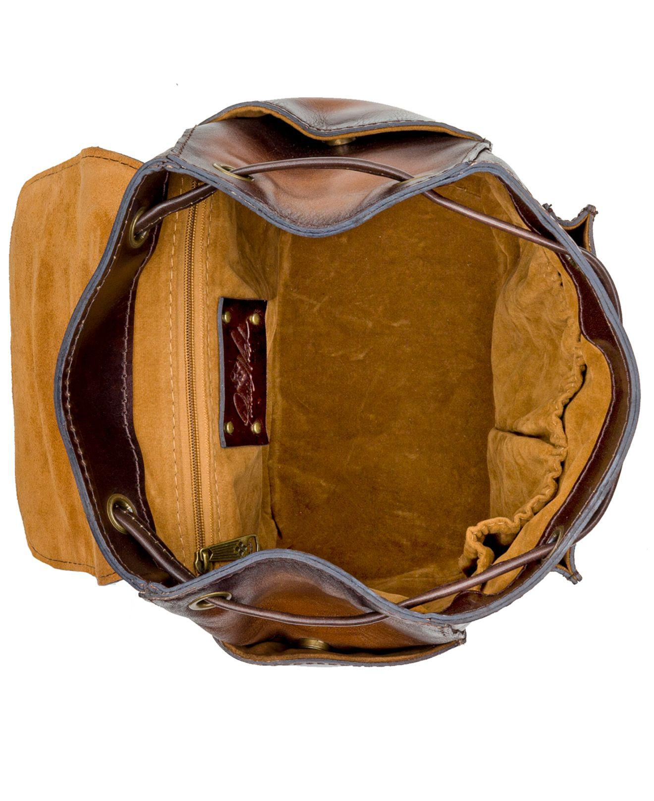 d39ab3eacdaf Lyst - Patricia Nash Aberdeen Stained Leather Backpack