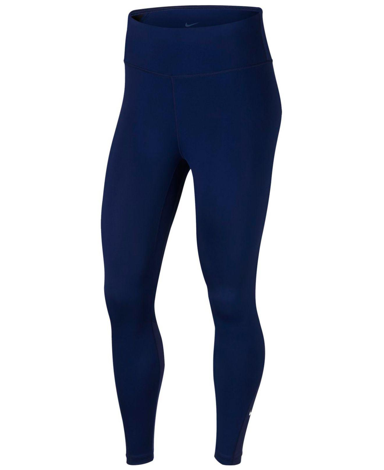 dab5b389350 Lyst - Nike All-in Training Ankle Leggings in Blue
