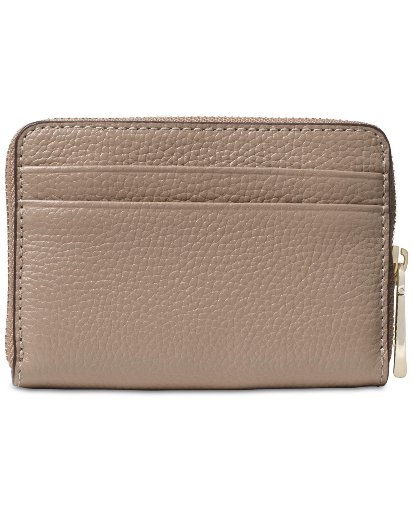 62c20d9401c28d Michael Kors Michael Pebble Leather Zip-around Coin & Card Case - Lyst