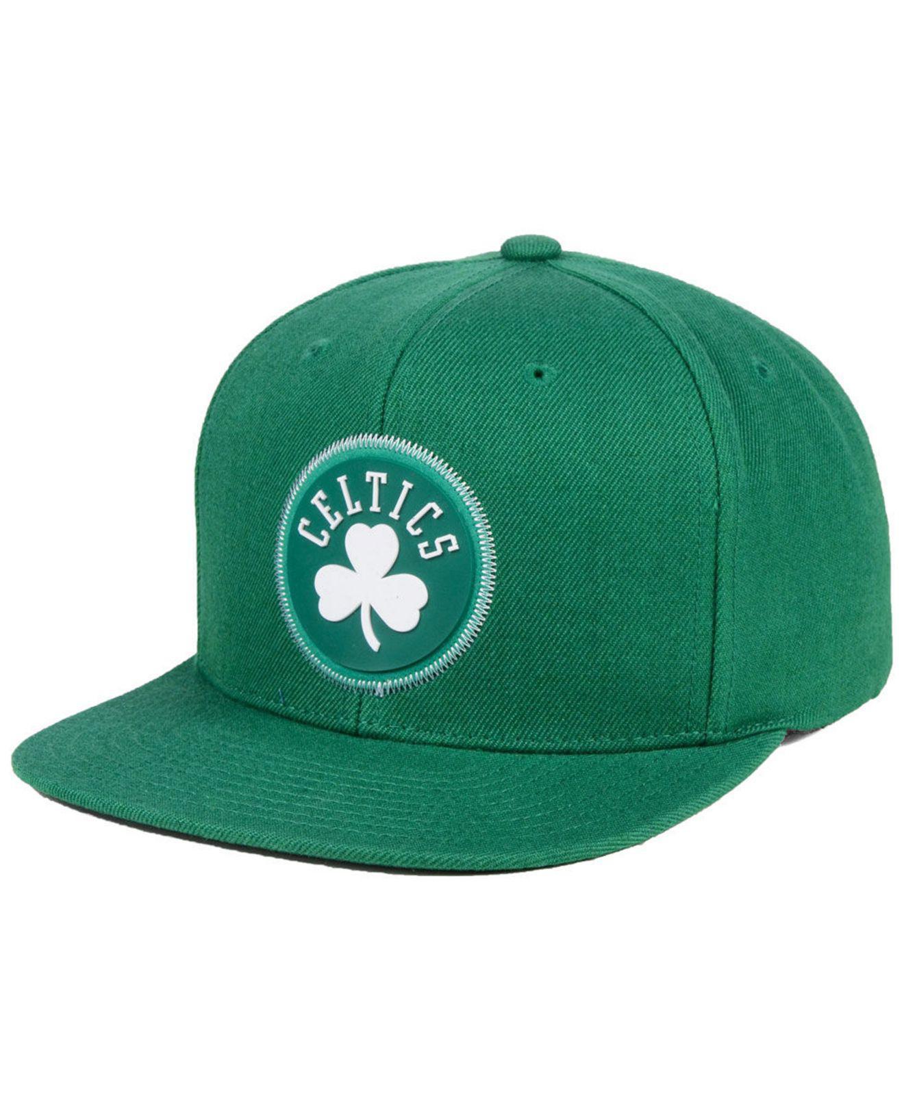 14d2b338a0a order mitchell ness. mens green boston celtics zig zag snapback cap 4d0a4  55f36