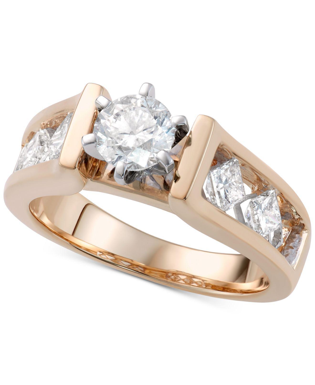 Macy's Diamond Engagement Ring (1-5/8 Ct. T.w.) In 14k