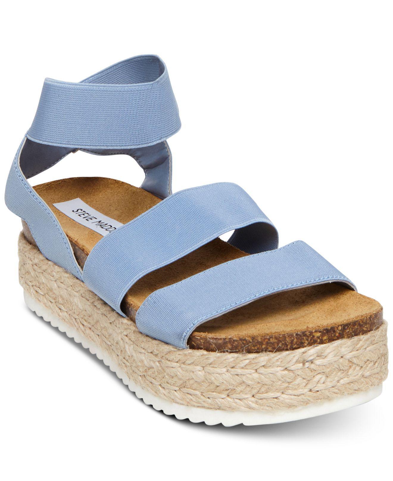 66645dd39b5b84 Lyst - Steve Madden Kimmie Espadrille Sandal (black) Women s Shoes ...