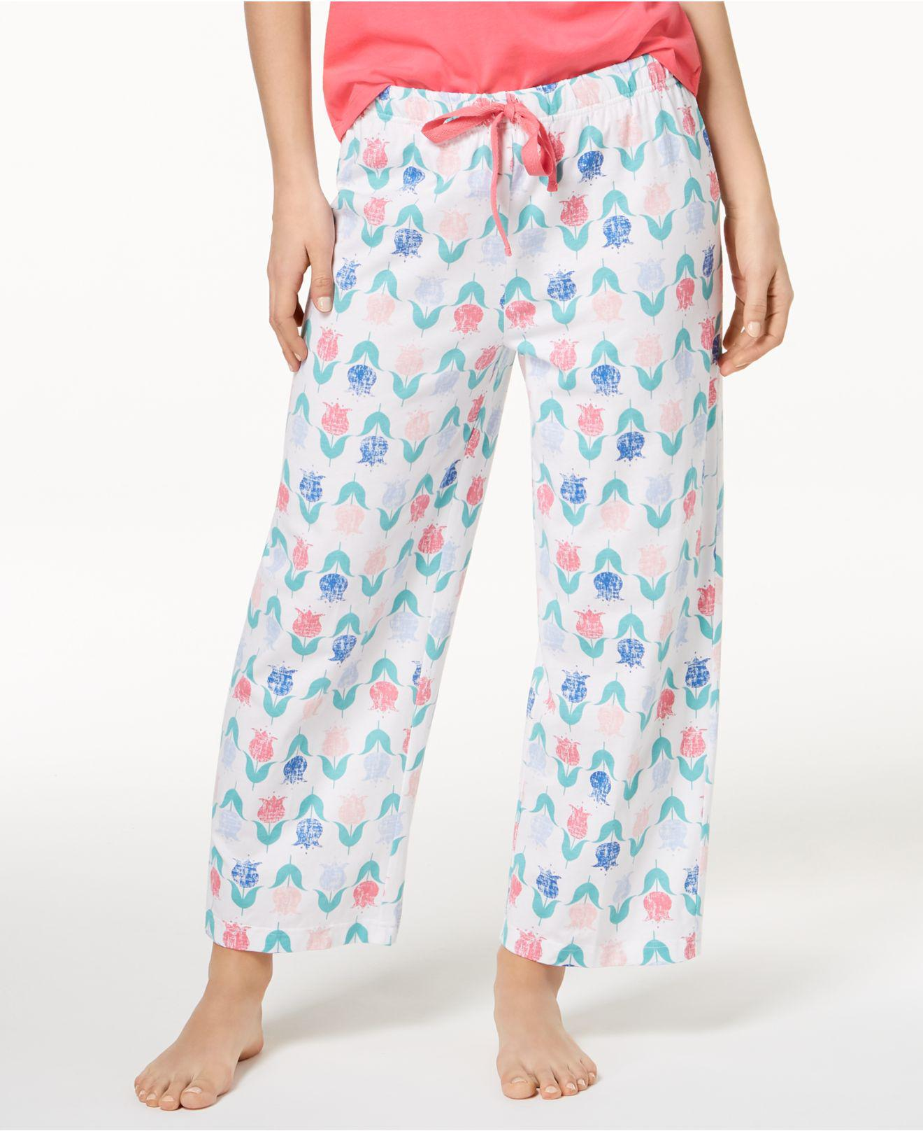 3b226a599b77 Charter Club Soft Cotton Printed Pajama Pants, Created For Macy's in ...