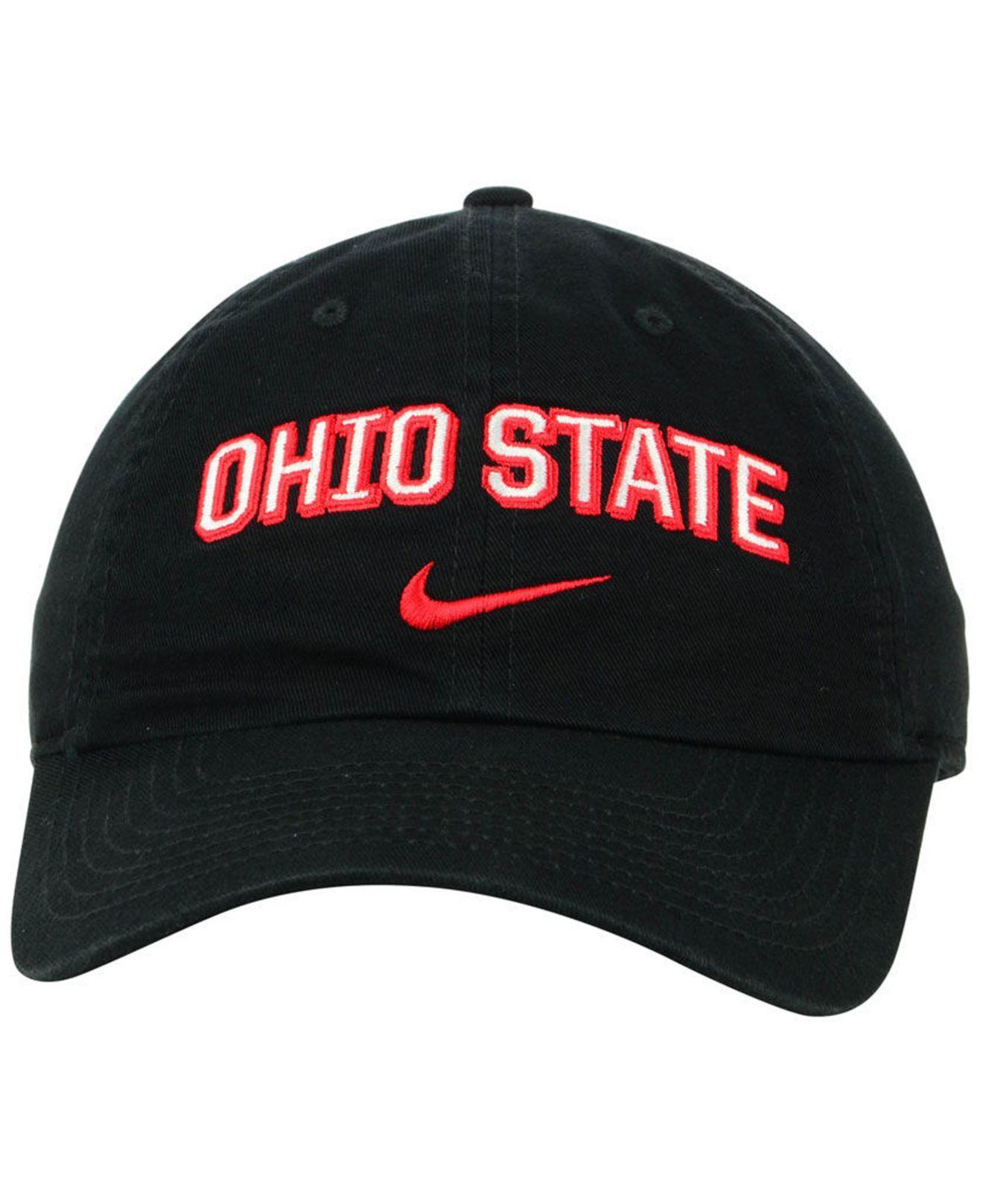 sports shoes bf2e7 acb13 Nike - Black Ohio State Buckeyes H86 Wordmark Swoosh Cap for Men - Lyst.  View fullscreen